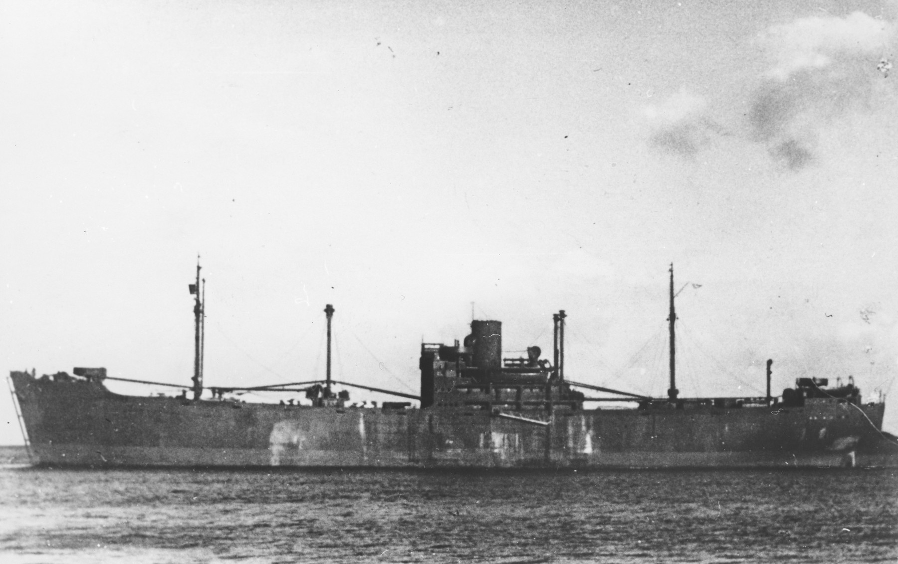 View of the SS Gotenland, one of the ships used to deport Jews from Norway to Germany.    Only 25 of the 760 Jews deported from Norway survived.
