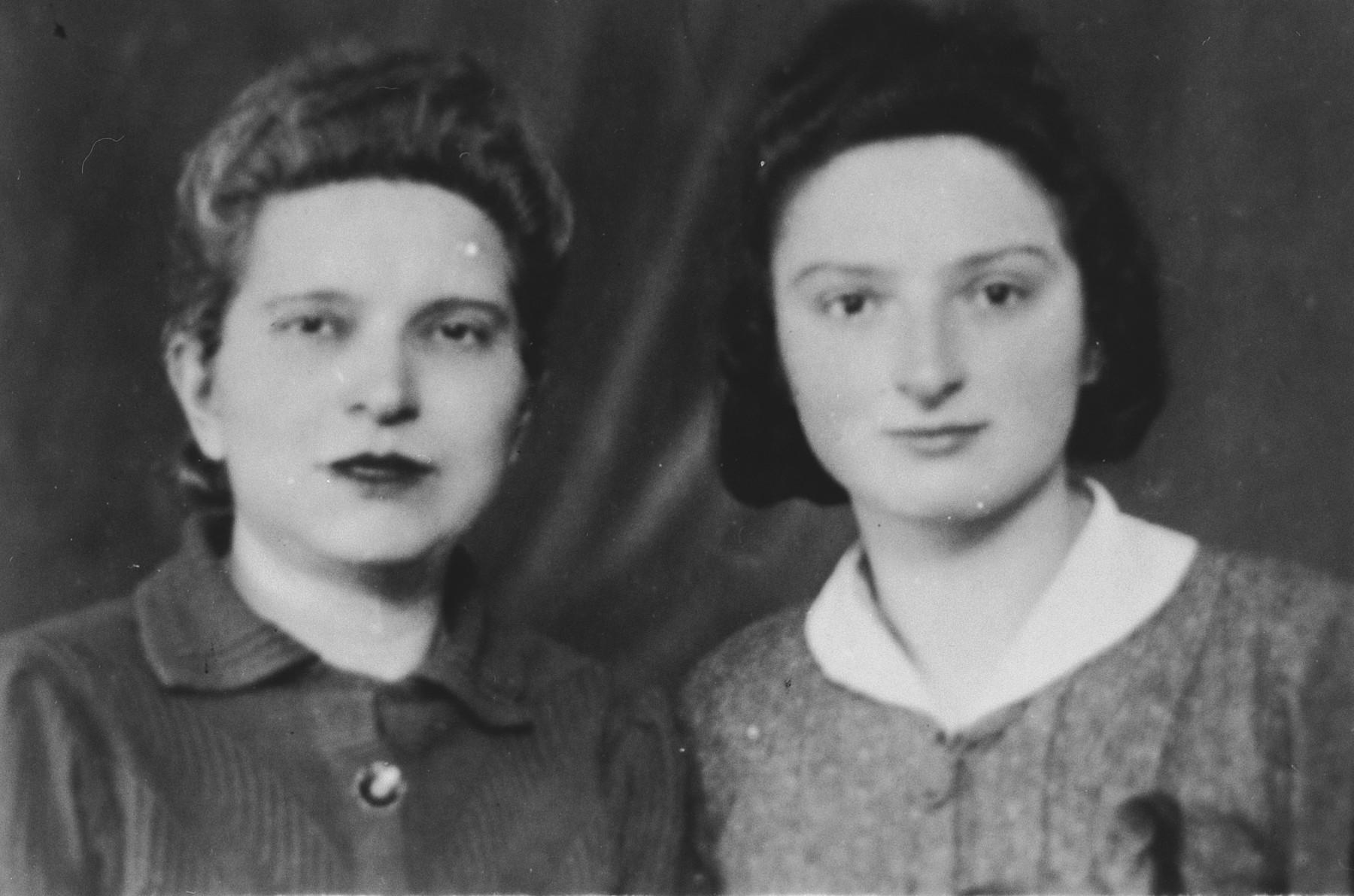 Identification photograph taken of Luba and Genia Prawer and sent to Alfred Schwartzbaum in Switzerland so that the women could obtain Honduran passports.