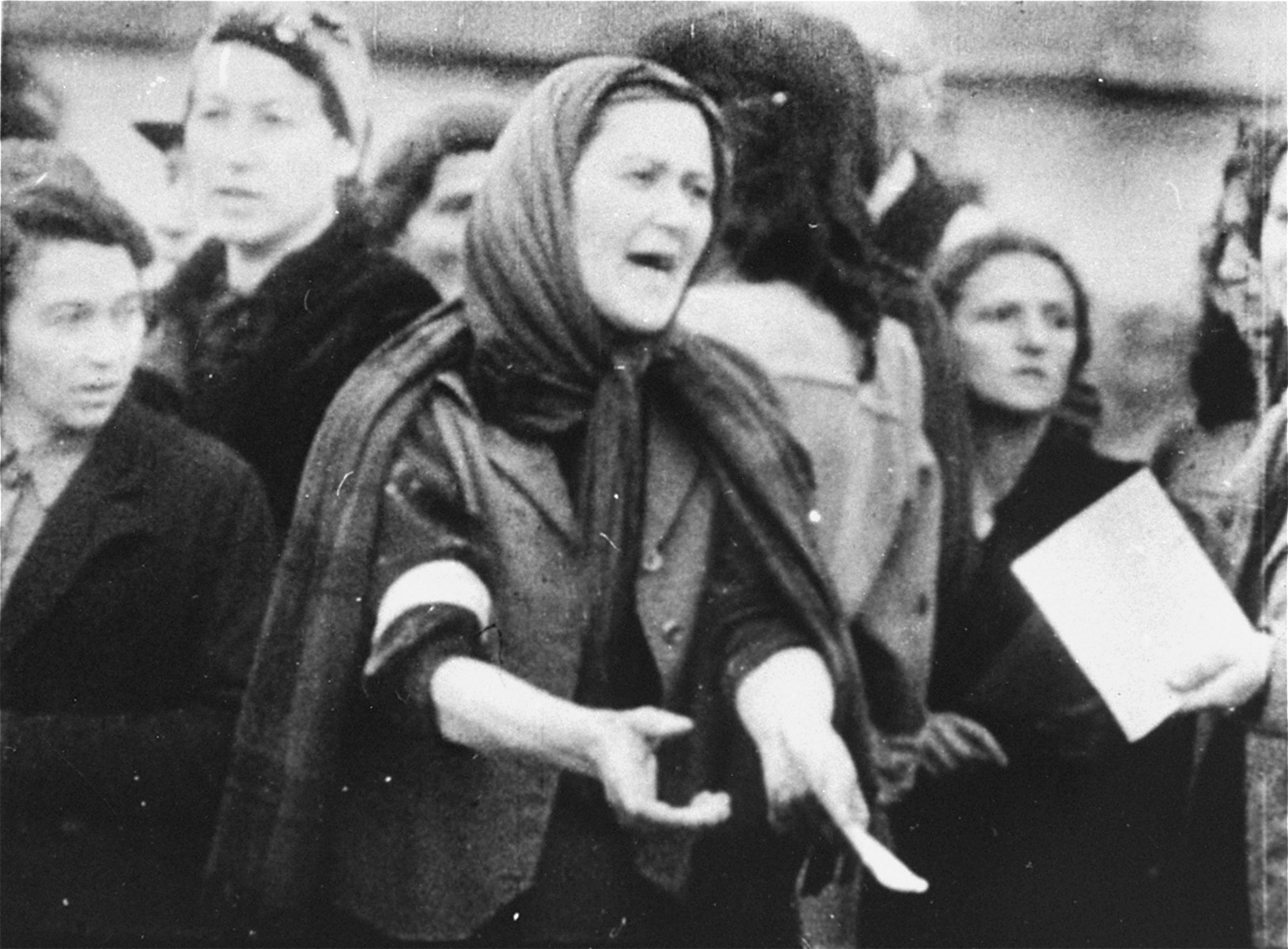 Jews during a deportation from the Warsaw Ghetto.