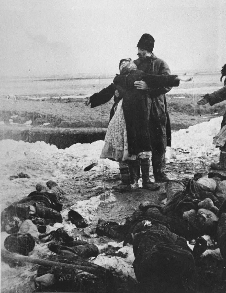 S. Afansyeva from Kerch mourns the death of her 18-year-old son, who was shot by Germans when they were forced to evacuate the city in February 1942.