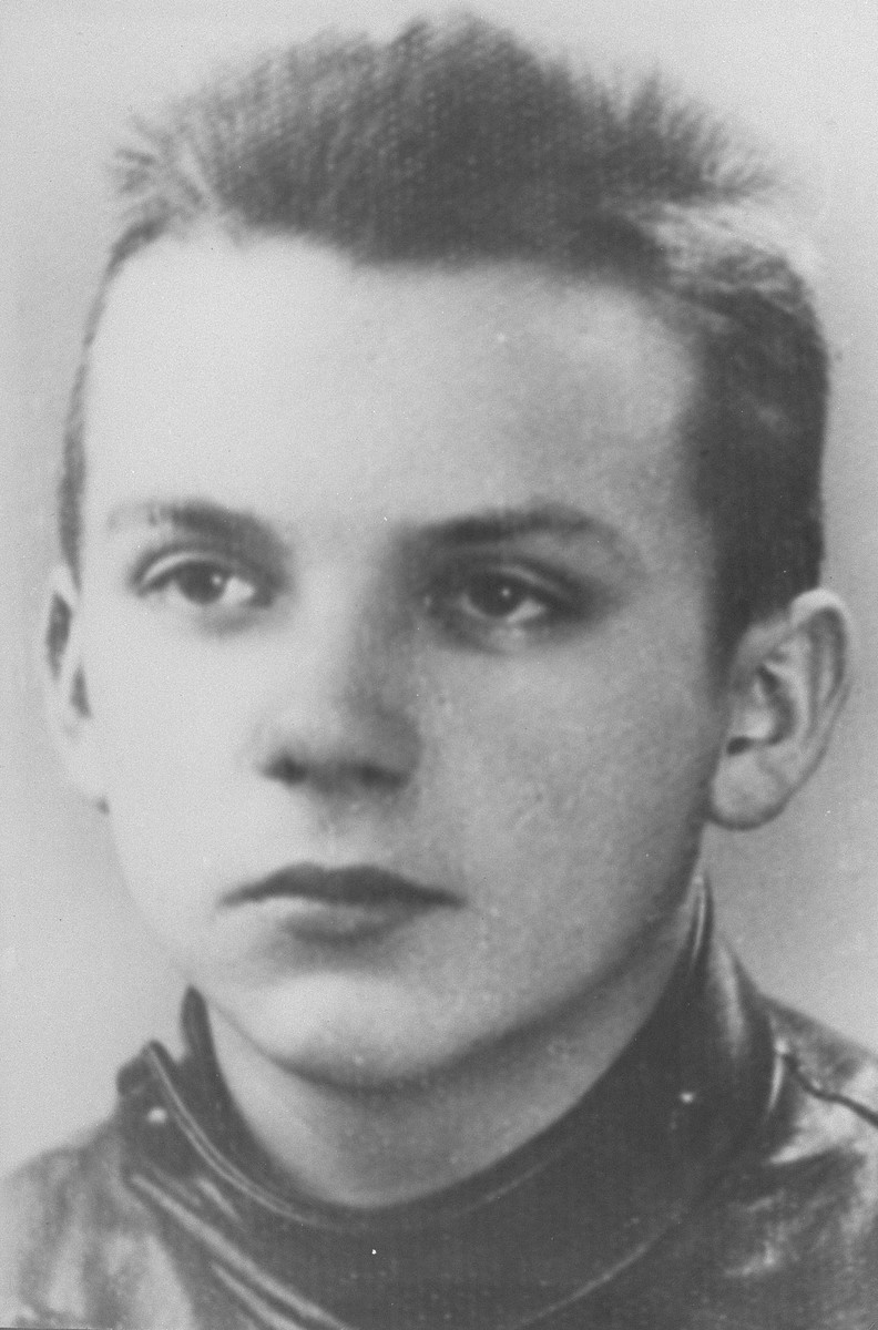 Portrait of Juliusz Bogdan Deczkowski, taken after his release from the Pawiak prison in Warsaw.
