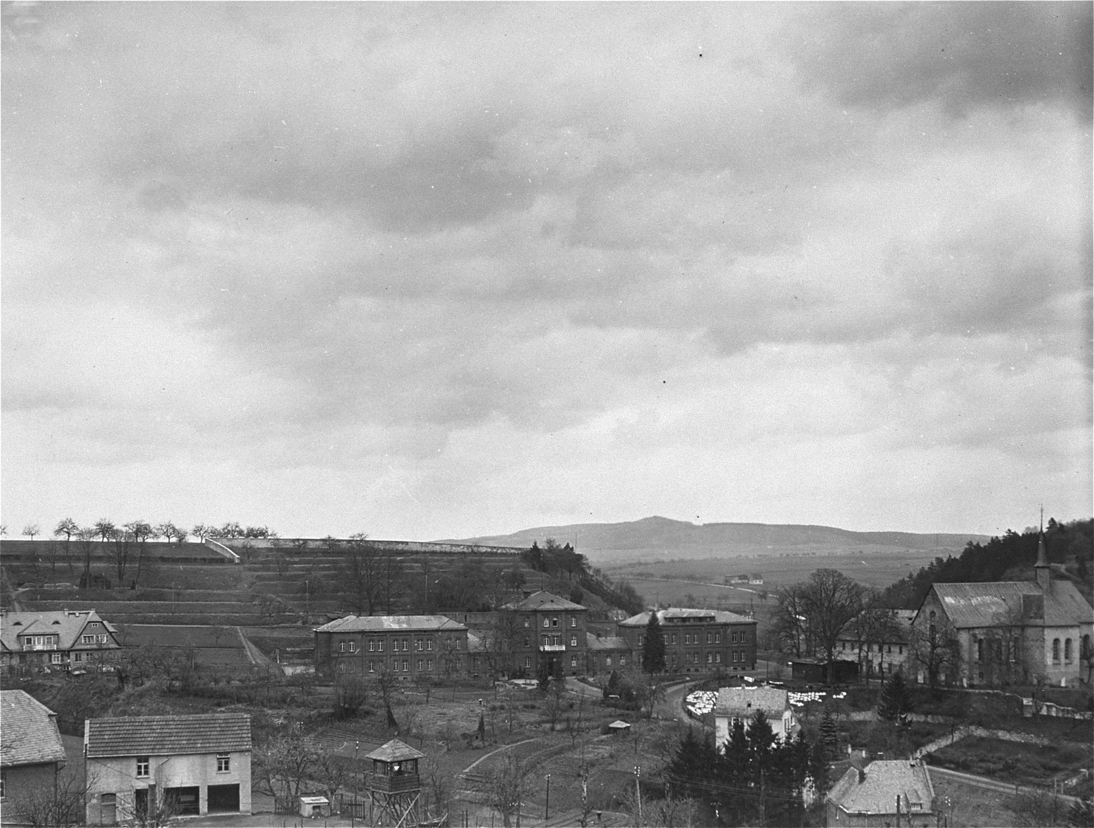 View of the Hadamar Institute.   The photograph was taken by an American military photographer soon after the liberation.