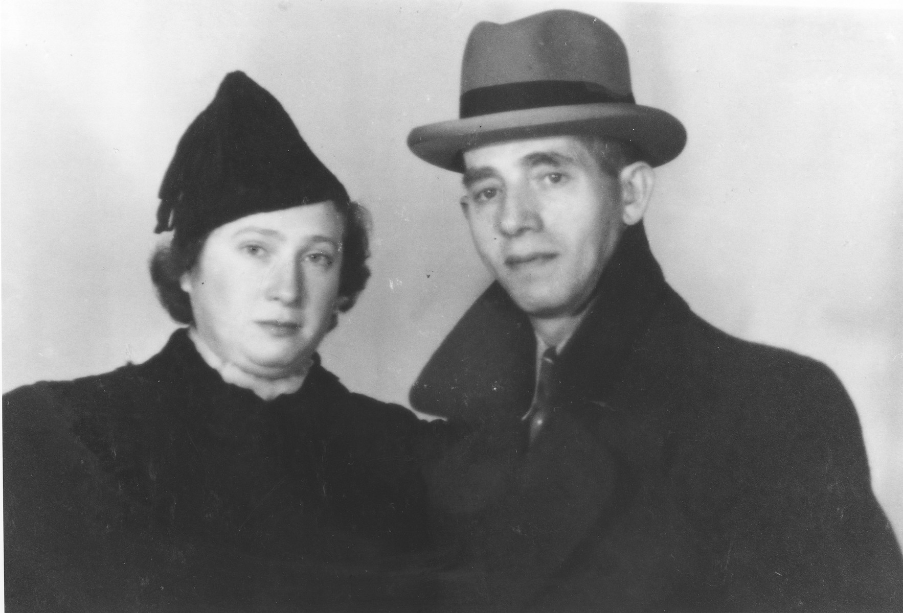 Portrait of Moshe and Rachel Engelhard on the eve of their departure to Yugoslavia.