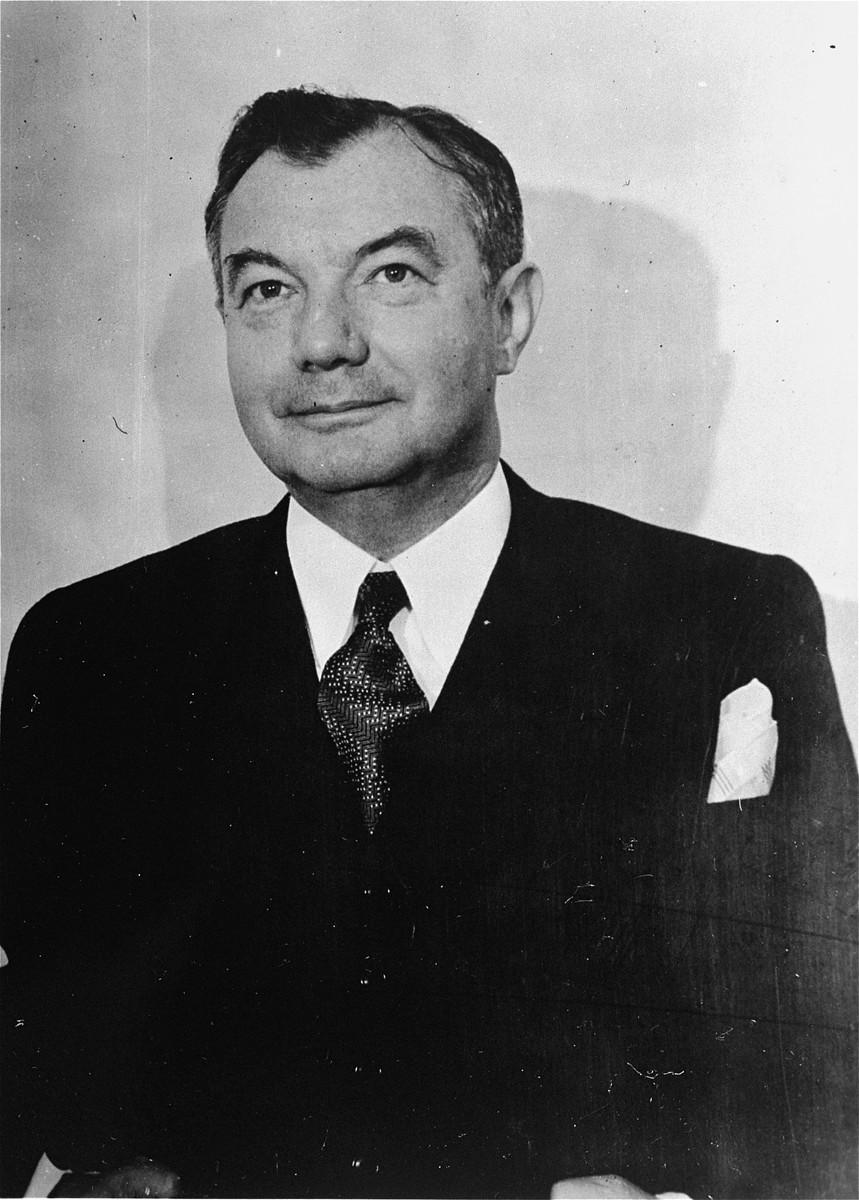 Portrait of U. S. Chief Prosecuter, Justice Robert H. Jackson.