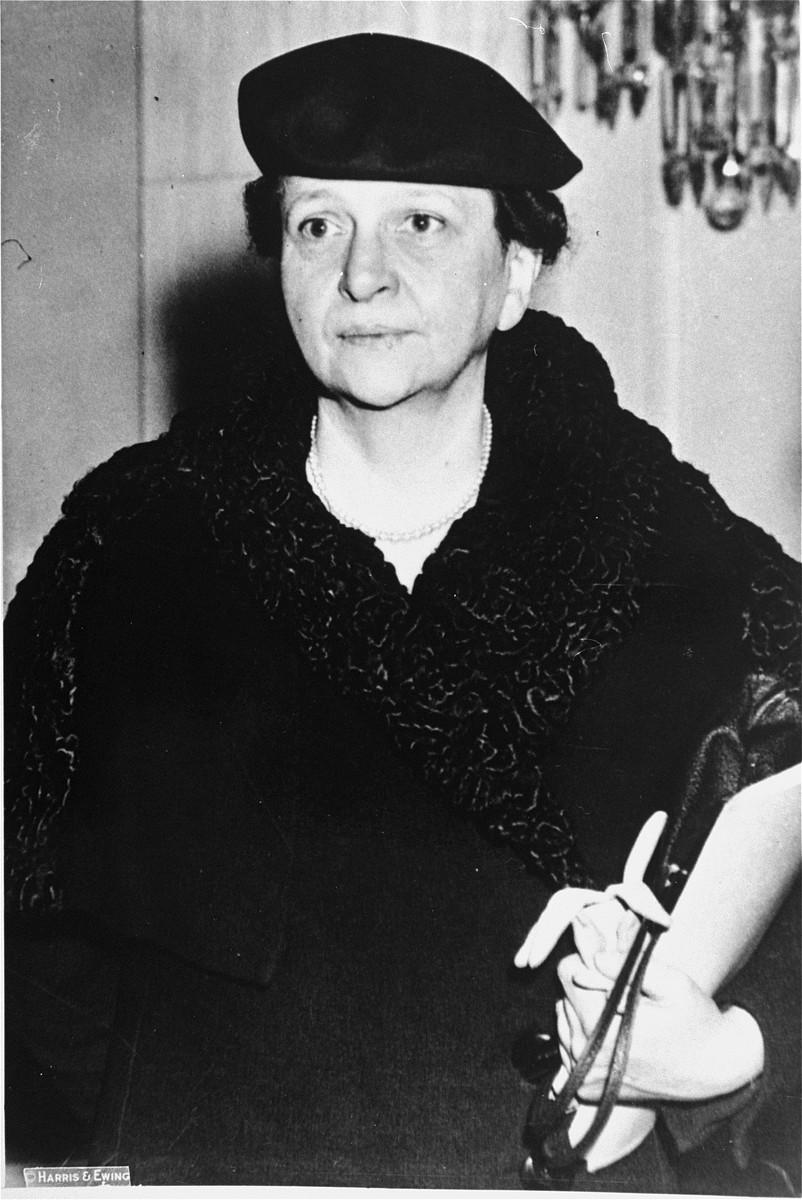 Portrait of Frances Perkins.