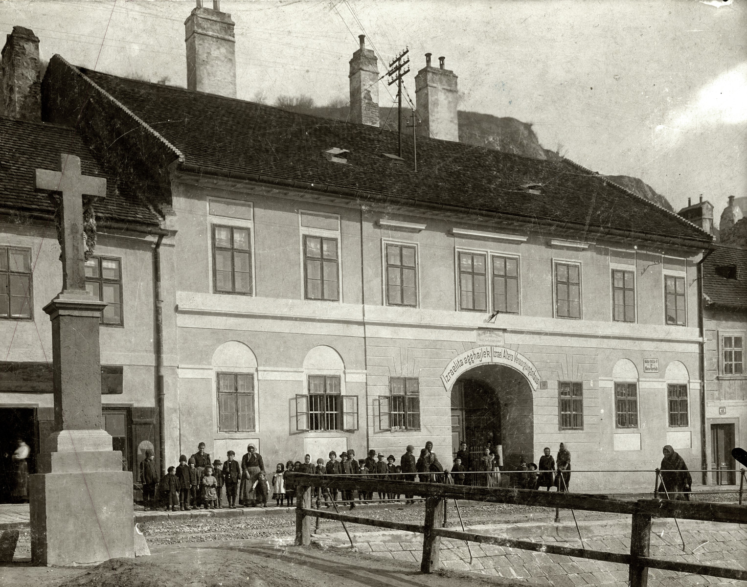 Exterior view of the Jewish Old Age Home in Bratislava.