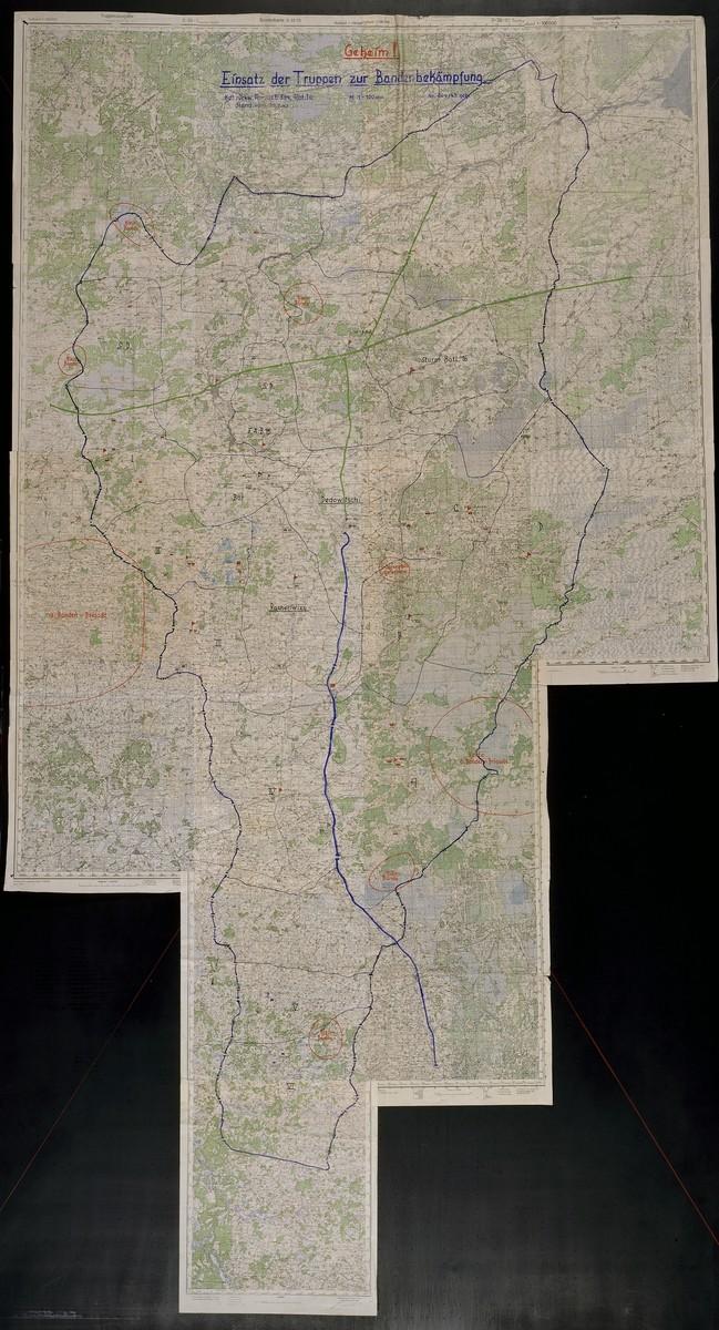 Einsatz der Truppen zur Bandenbekampfung.  Focuses on areas in Russia.  1943 July 7.
