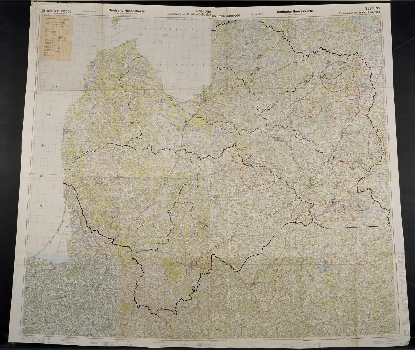 Bandenlage Mai 44. Concerns Ostland, 1944 May.