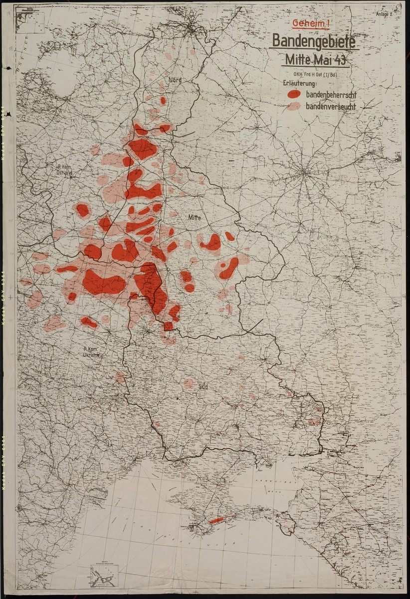 Bandengebiete Mitte Mai 1943.