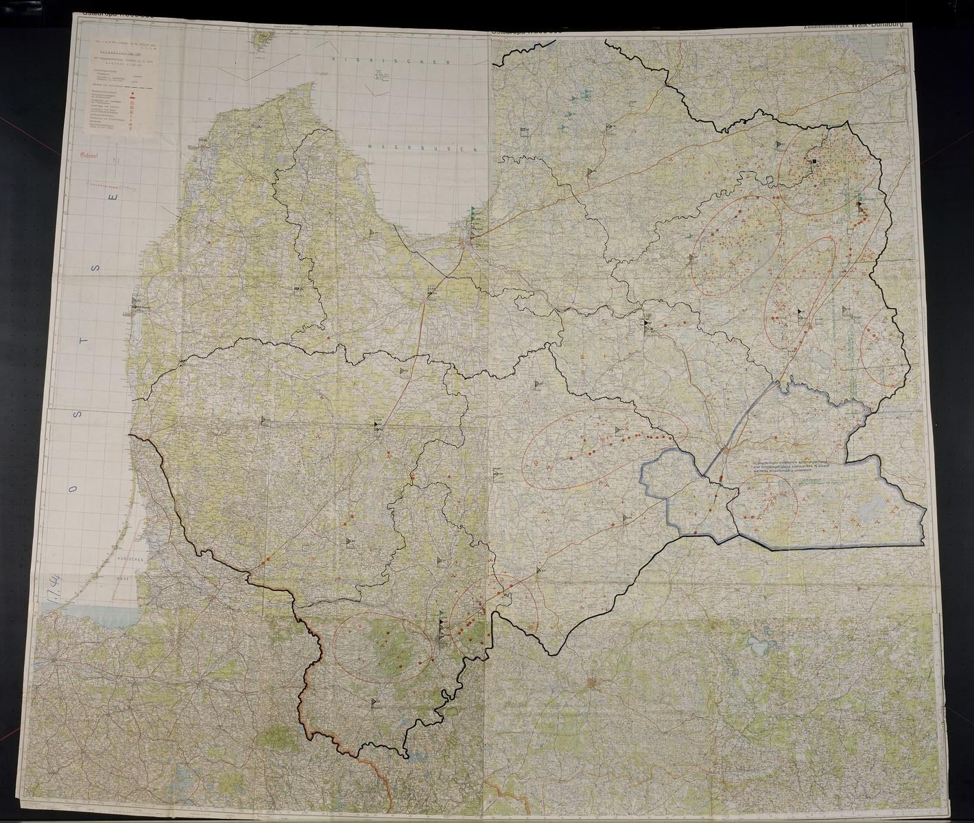 Bandenlage Juni 44. Concerns Ostland, 1944 June.