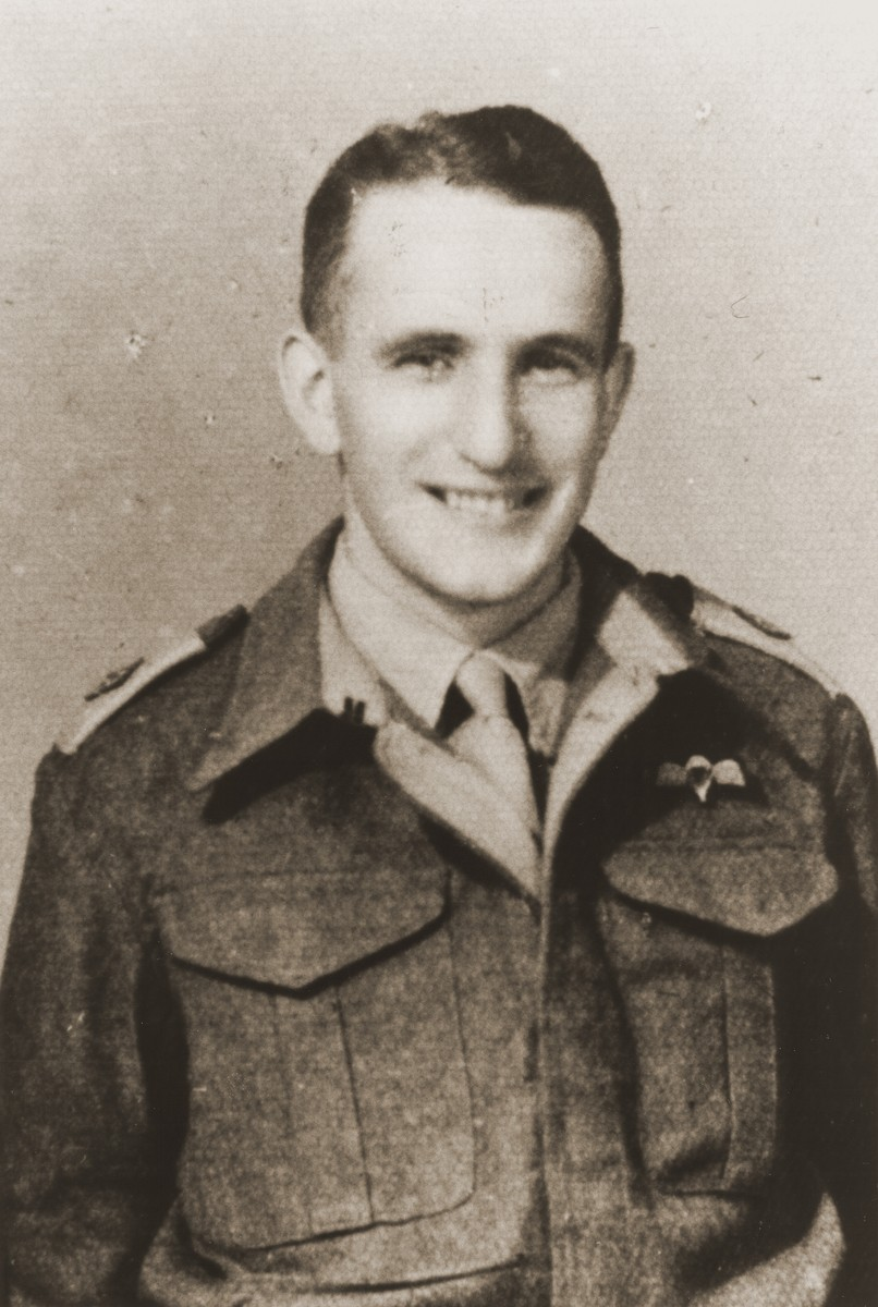 Portrait of Palestinian Jewish parachutist Abba Berdiczew.    Berdiczew was captured soon after being dropped into Slovakia.  He was later deported to the Mauthausen concentration camp, where he perished.