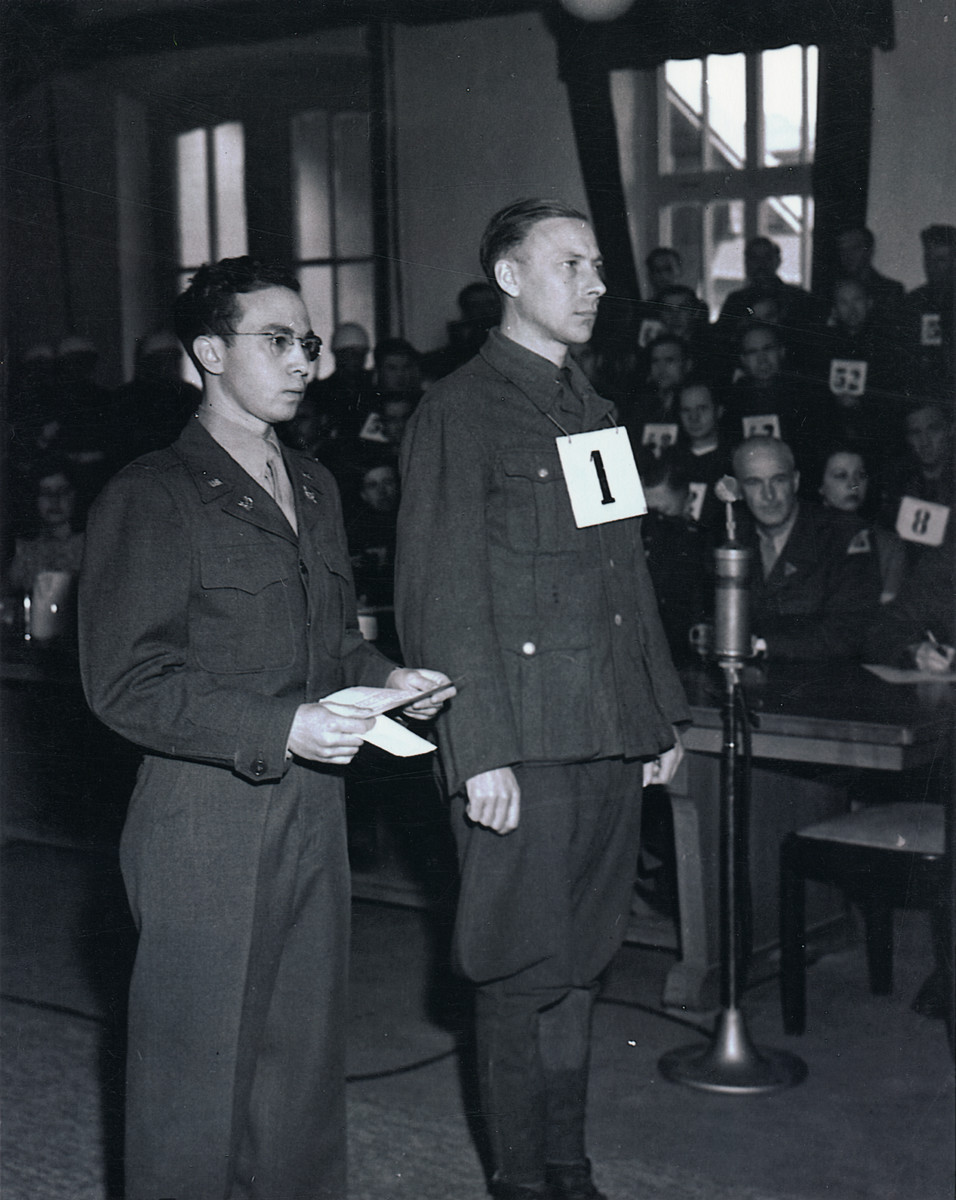 Hans Altfuldisch is sentenced to death by hanging at the Mauthausen war crimes trial.