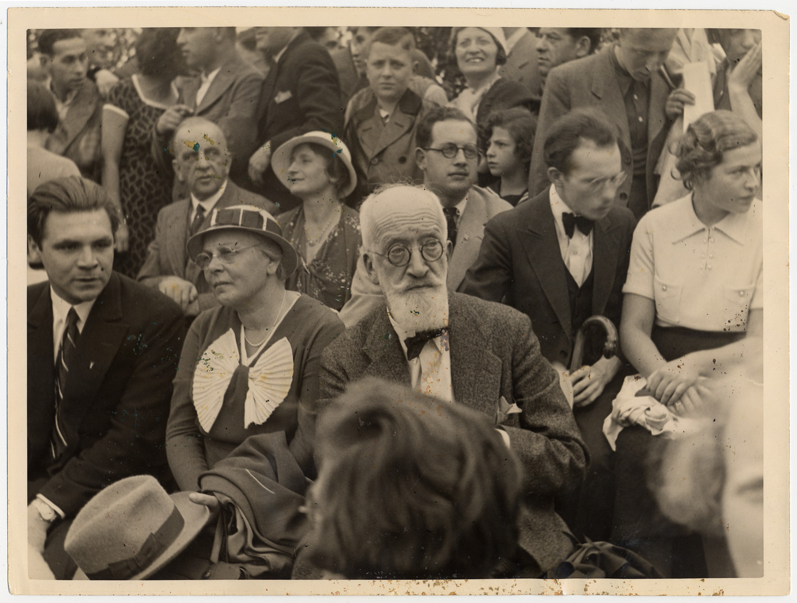 German-Jewish leader, Julius Brodnitz, attends a sporting event in 1934.