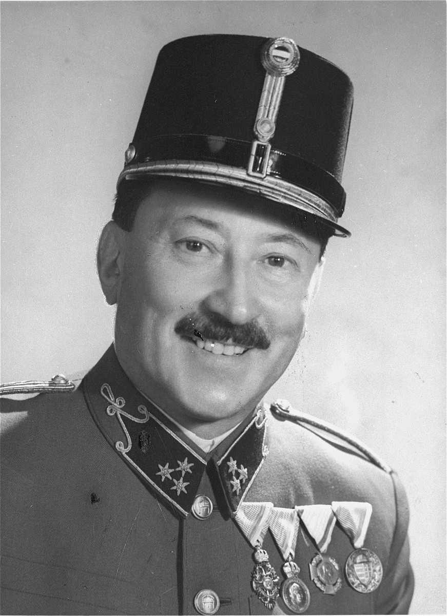 Portrait of Pal Kornhauser in the uniform of a captain in the Hungarian army.