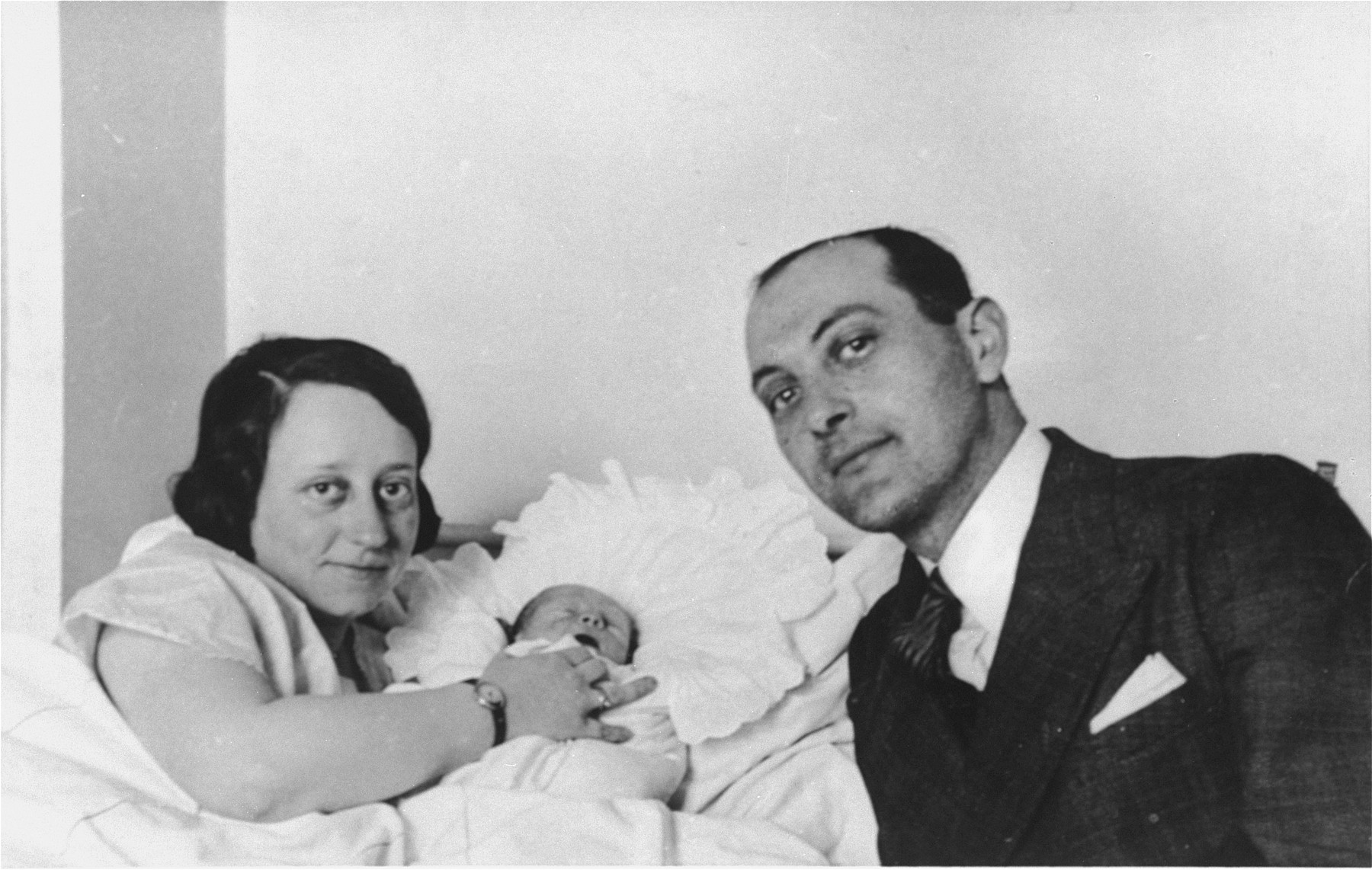 Istvan and Margit Pick with their newborn son, Gyorgy, in Budapest.