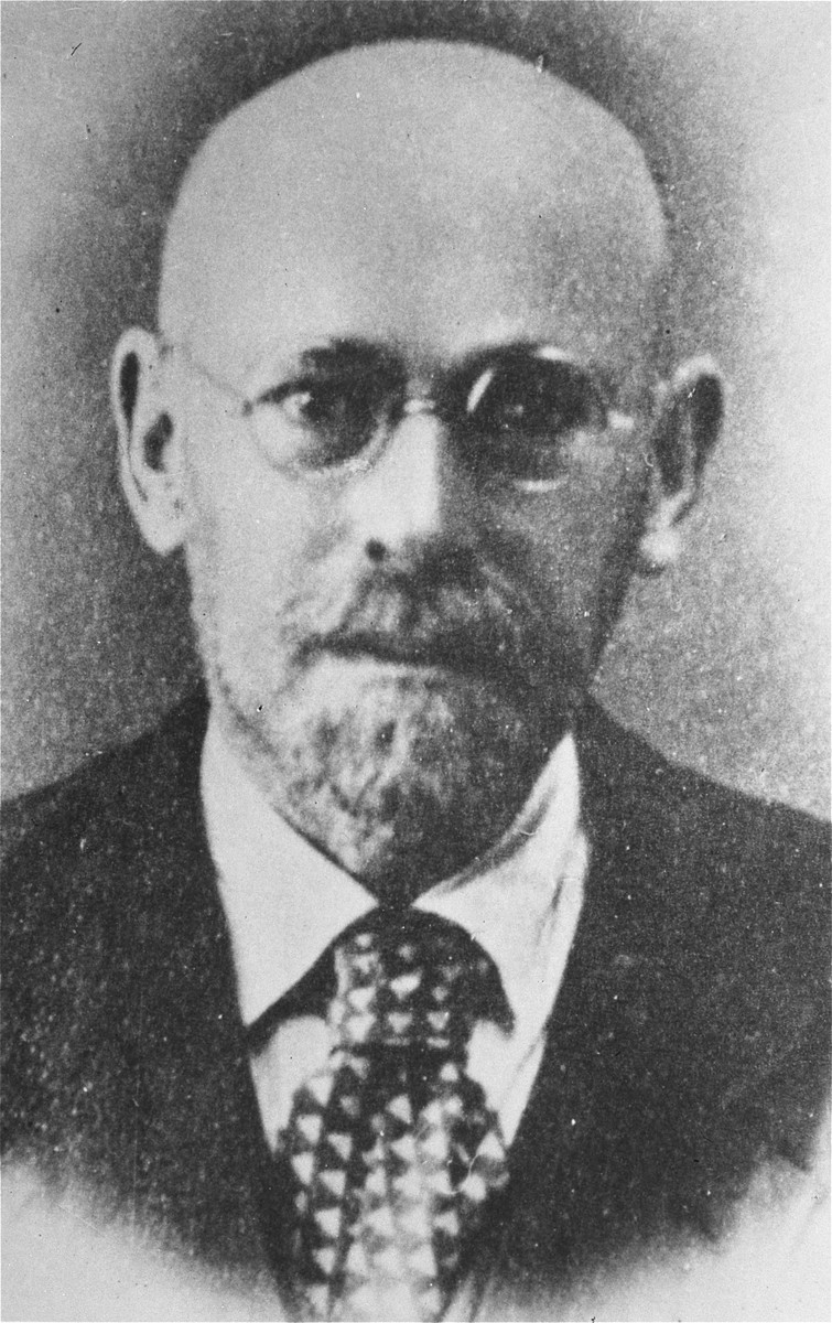 Portrait of Janusz Korczak.