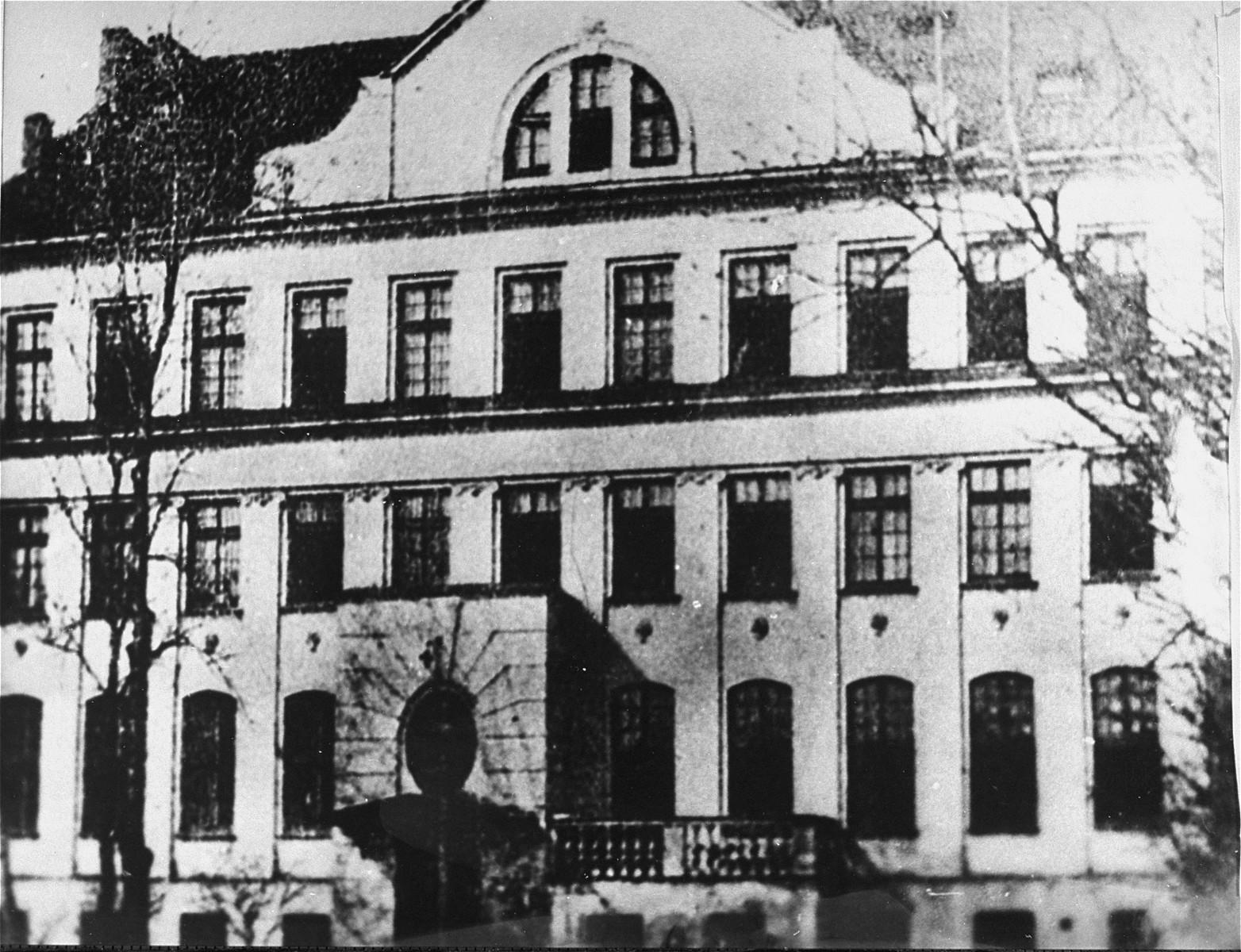 View of the Krochmalna Street orphanage.   Janusz Korczak's room was in the attic.