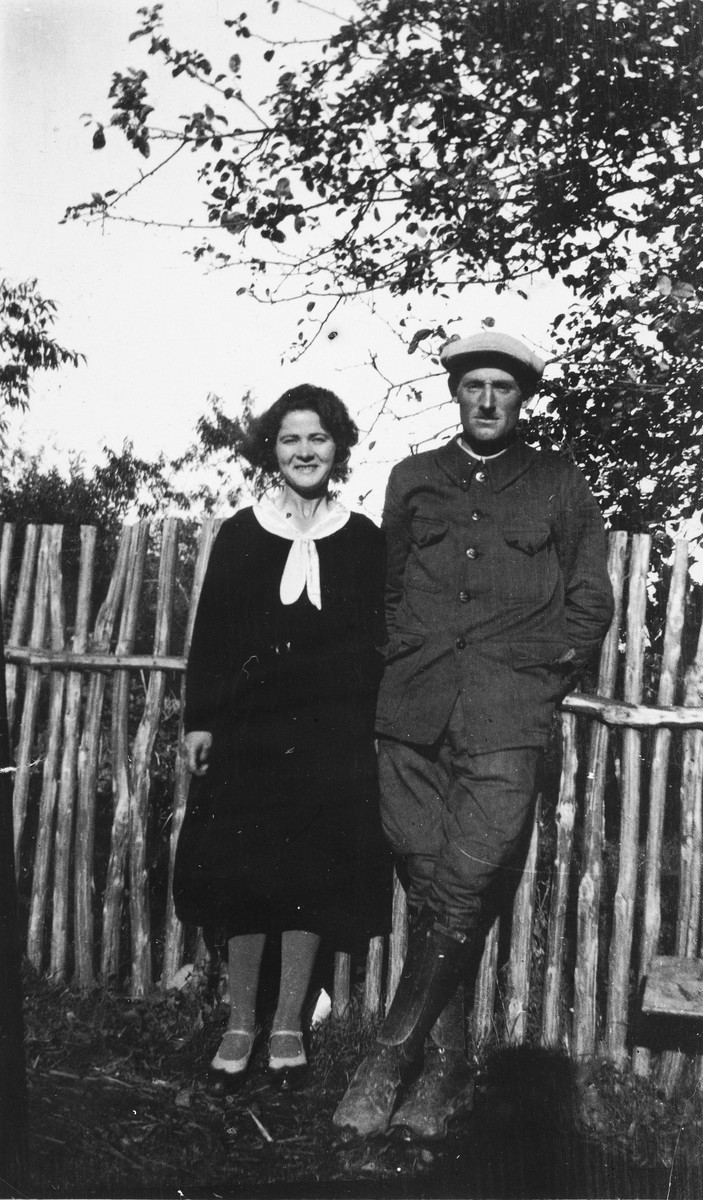 Portrait of Adrian and Marie Puyrajoux, who hid Benno Ginsburg on their farm in France during the German occupation.
