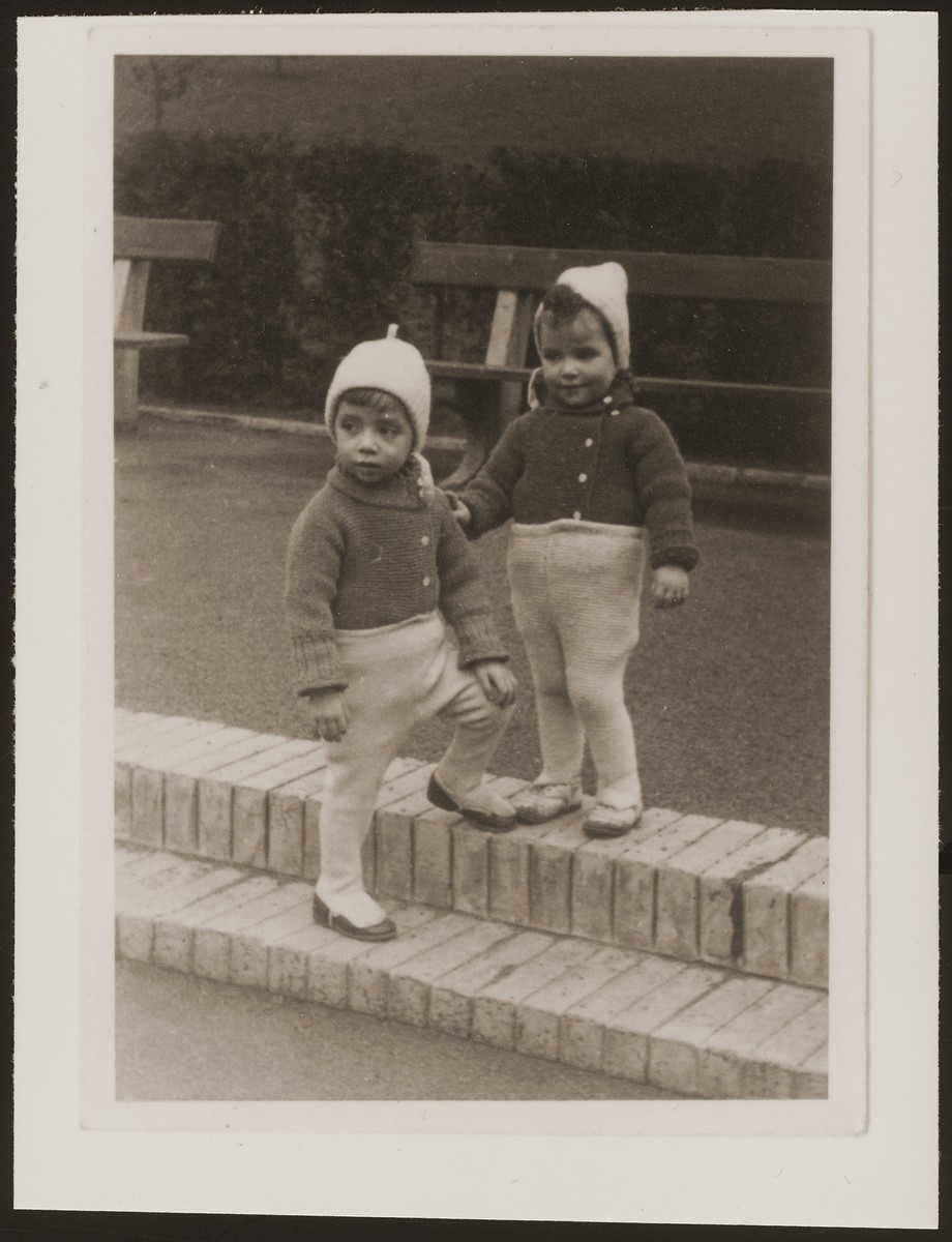 Rene and Renate Guttmann at play in a park.