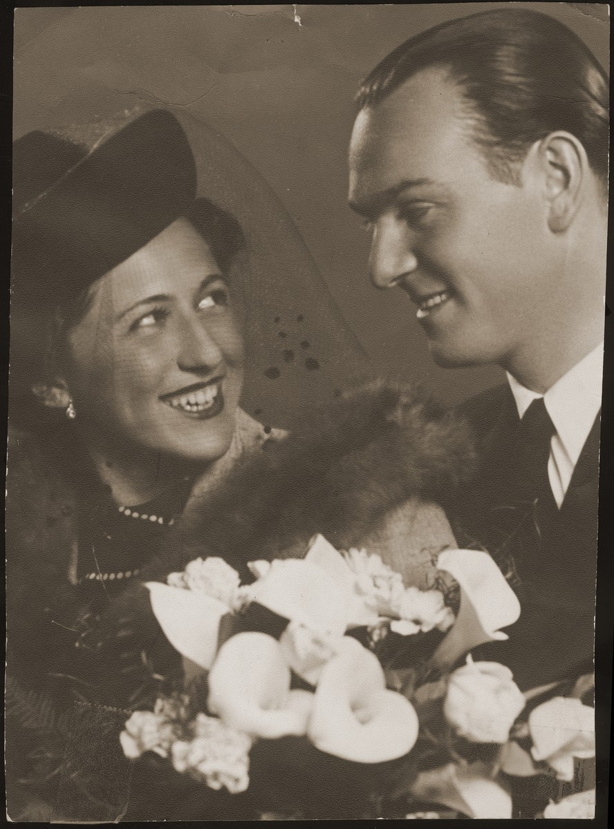 Engagement portrait of Geza Friedman and Marta Wohlmuth.