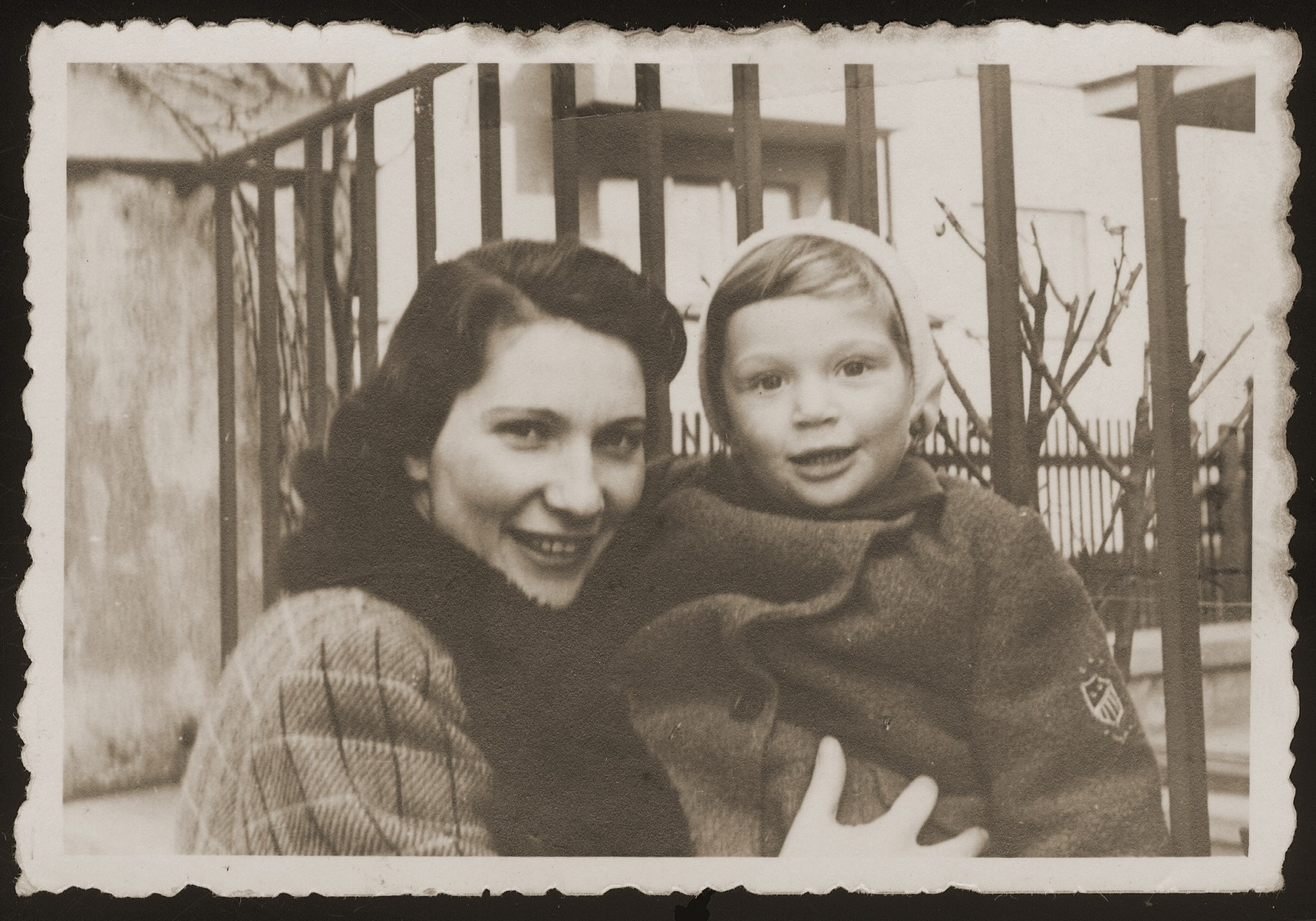 Wilma Goldstein poses with her son, Michael, in Olomouc, Czechoslovakia.    Bohus and Wilma (Redlich) Goldstein had two children, Eva and Michael.  The family lived in Olomouc, where Bohus worked for the Prague autoworks.  All four perished during the war.
