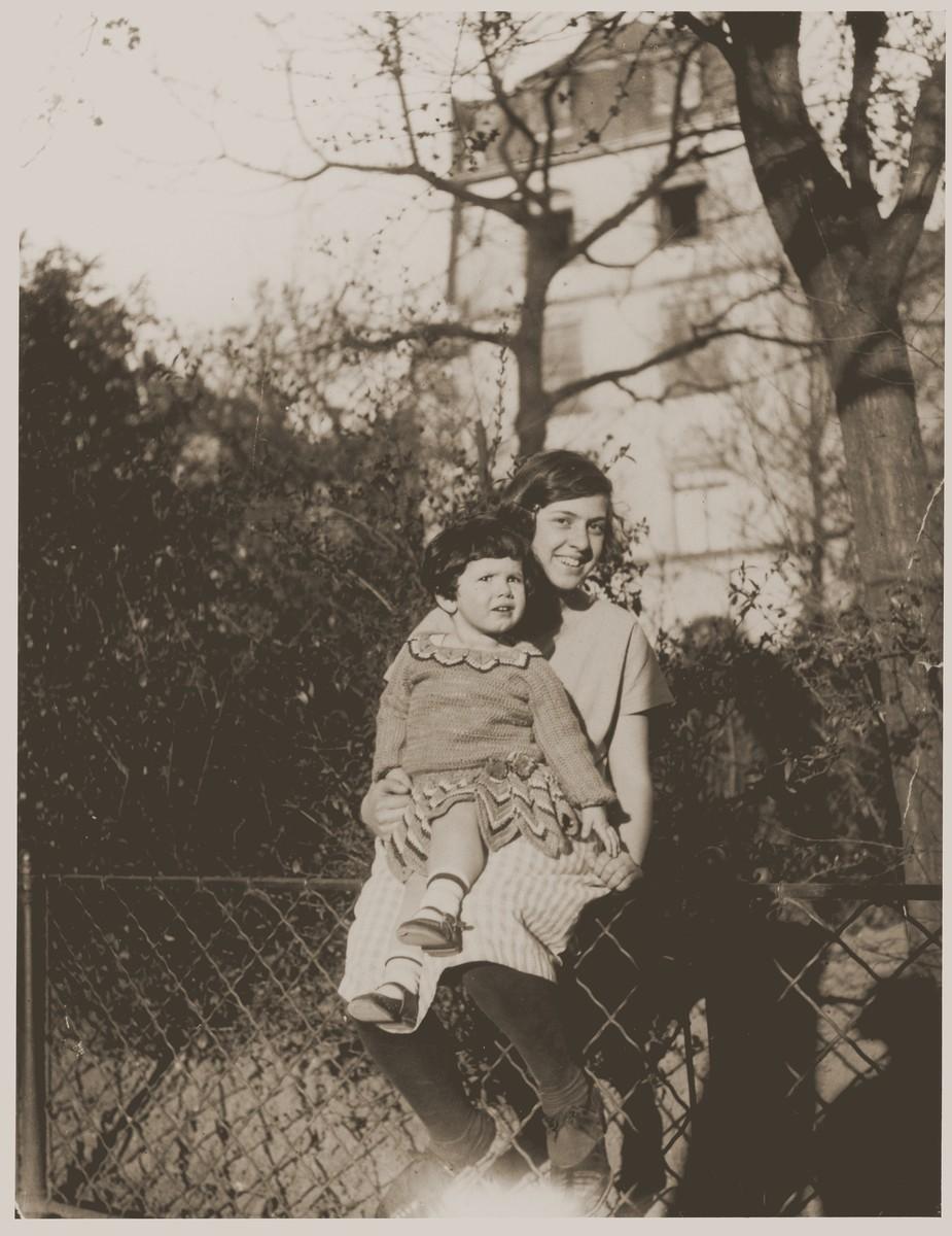 Lore Gotthelf with her half-sister Friedel Muenster.