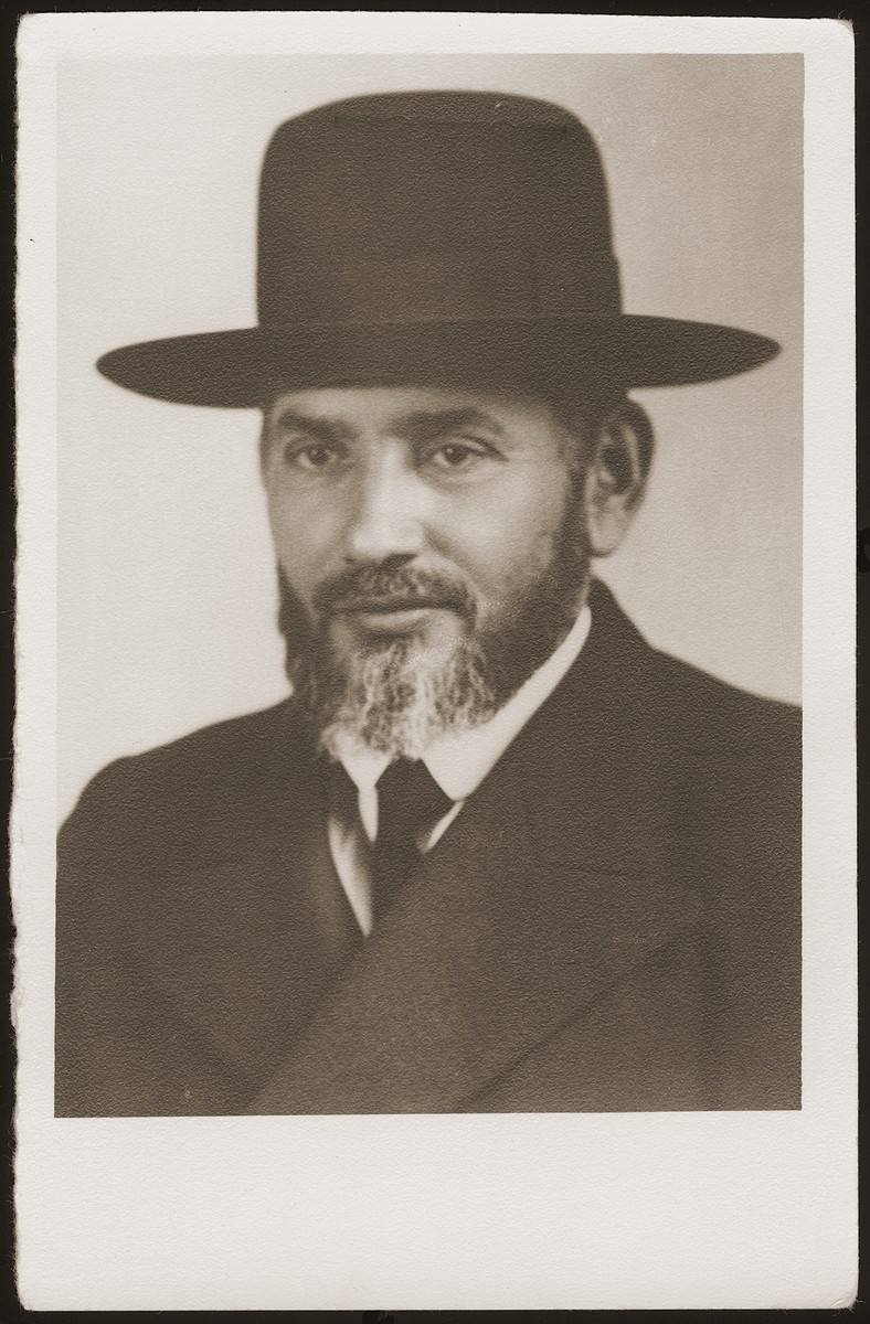 Portrait of a rabbi in Hlohovec, Czechoslovakia in the 1930s.