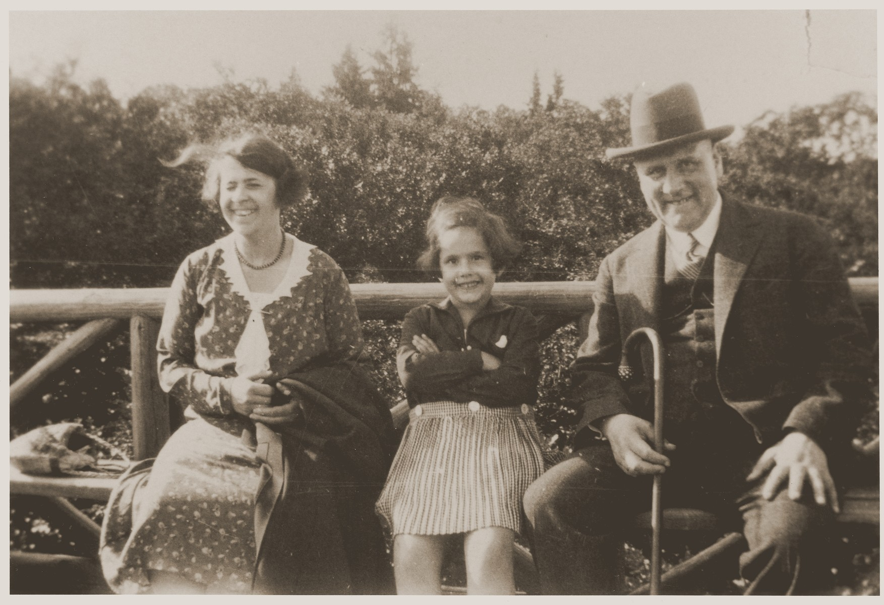 Lore Gotthelf poses with her parents, Gertud and Sigmund Gotthelf, on her father's 50th birthday.
