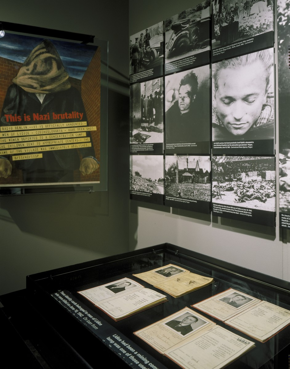 Segment on the Lidice atrocity on the second floor of the permanent exhibition at the U.S. Holocaust Memorial Museum.
