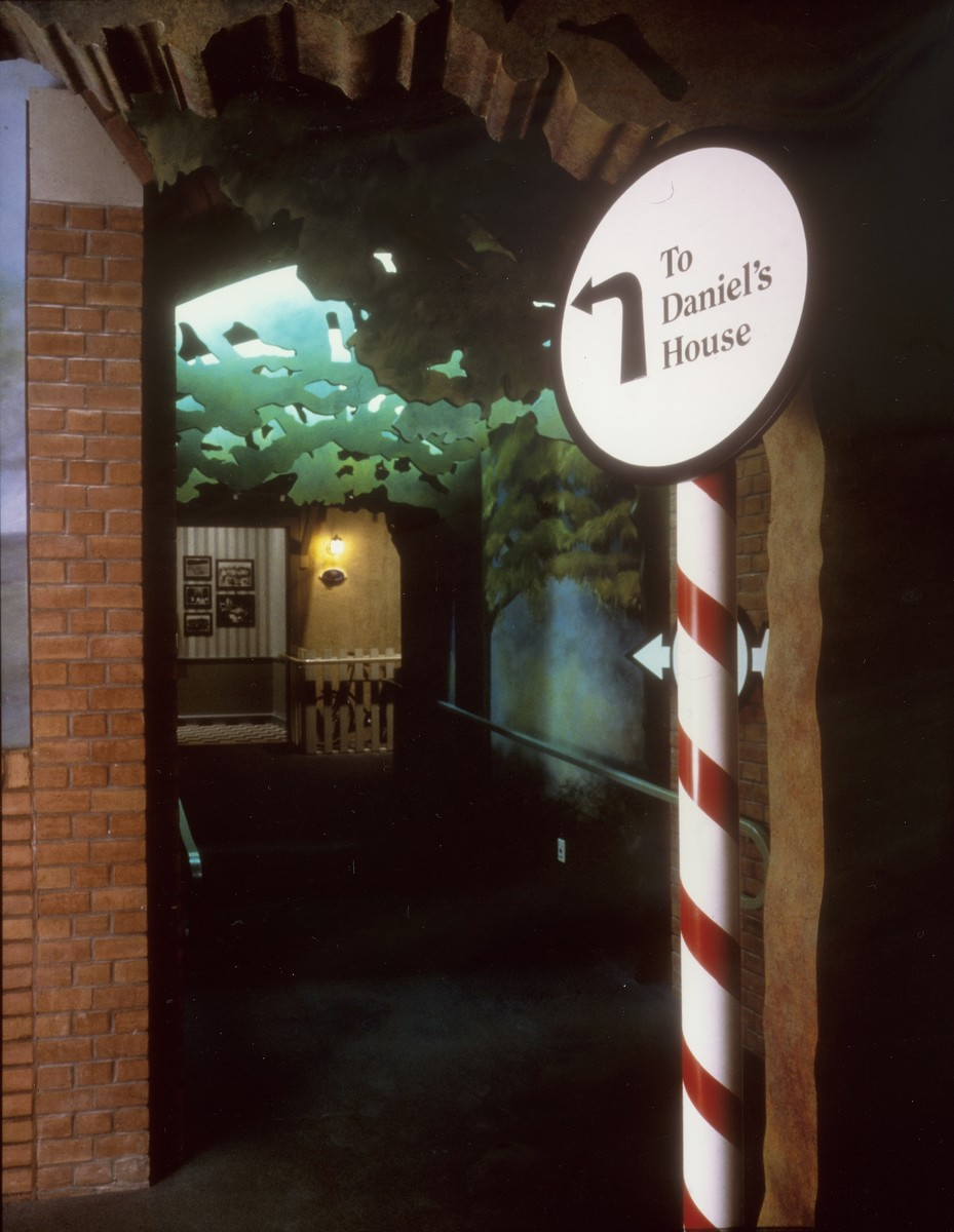 "Entrance to Daniel's house in the special exhibition, ""Remember the Children: Daniel's Story,"" at the U.S. Holocaust Memorial Museum."