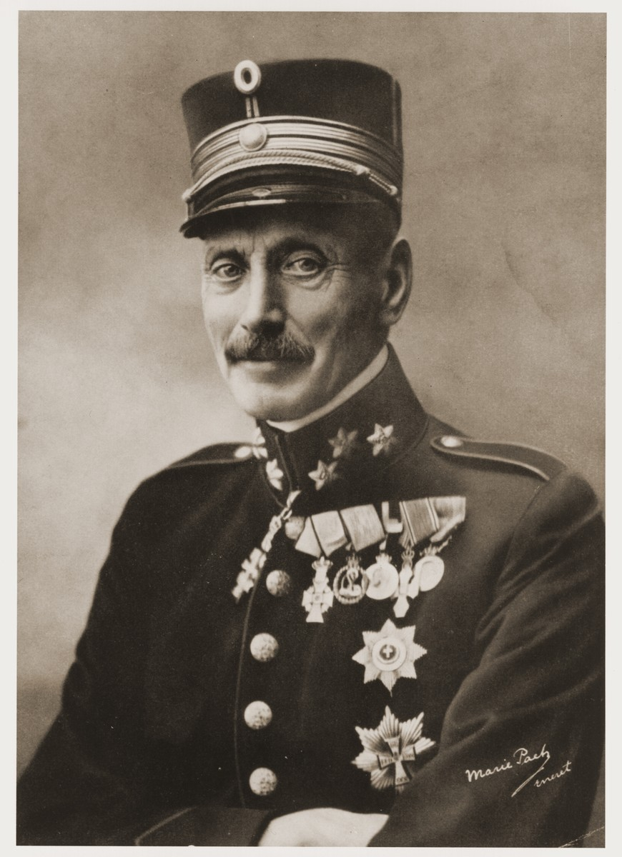 Portrait of King Christian X of Denmark.