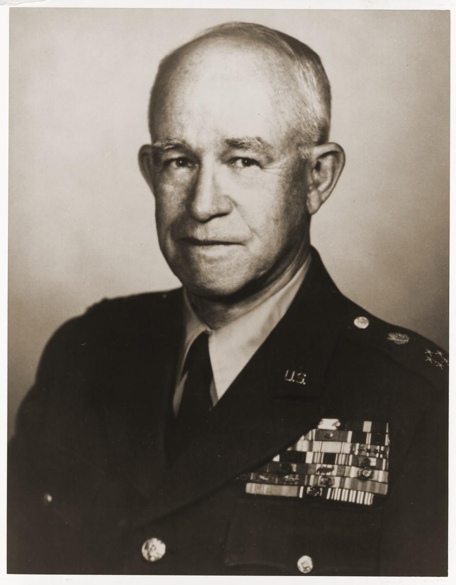 Studio portrait of five-star General Omar N. Bradley.