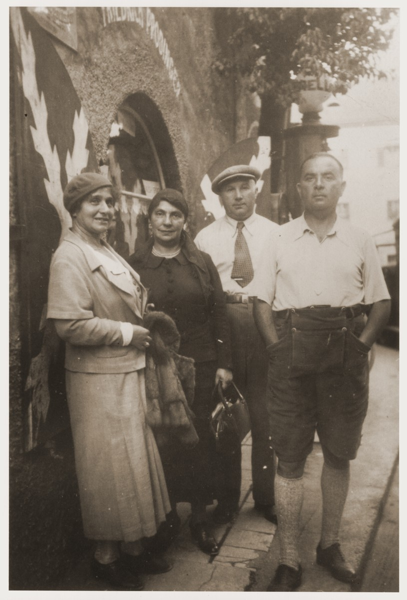 Jacob and Asya Hasenson Chankin (the donor's uncle and aunt) visit Max and Else Chankin in Yugoslavia.  Max was killed in 1942.