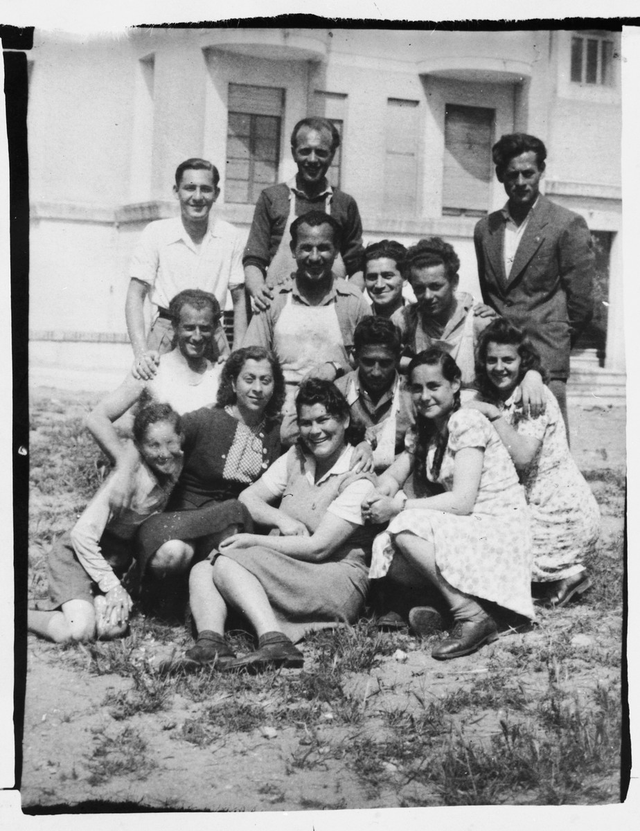 Members of Kibbutz BaHazit in Lido Di Roma.