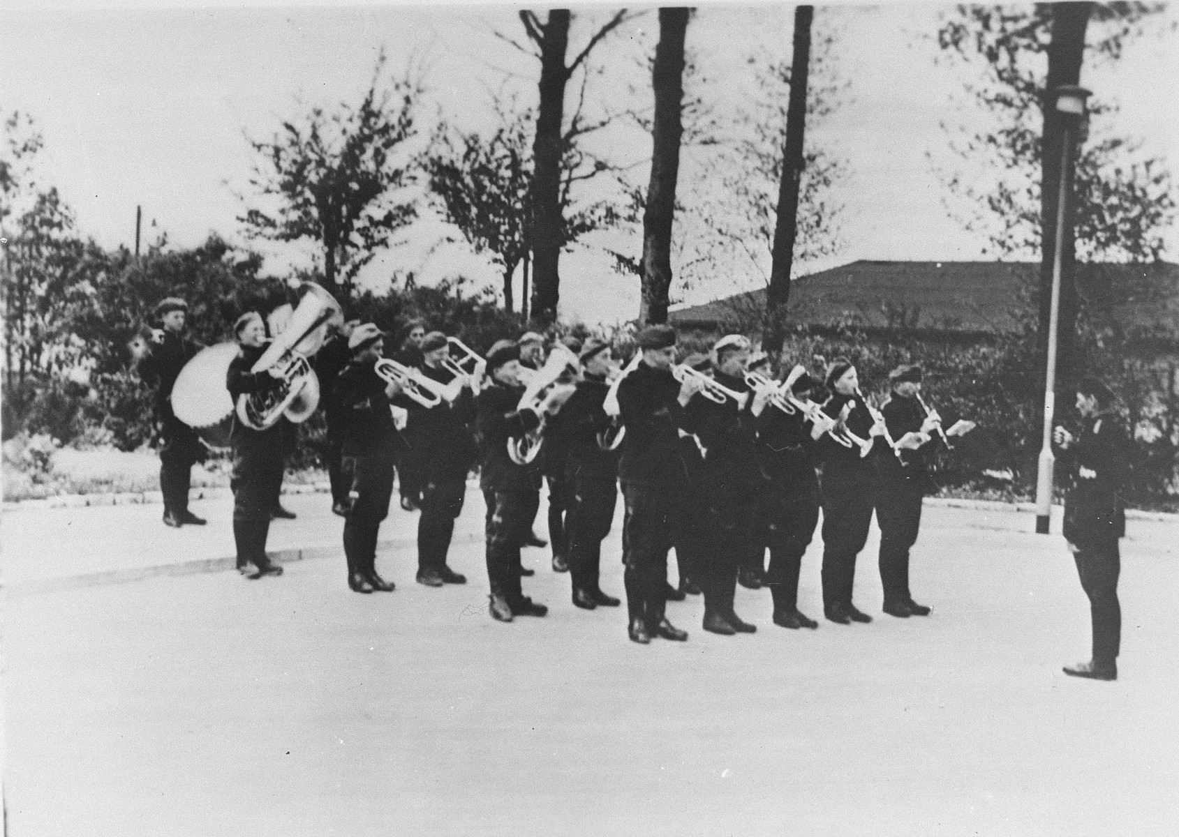 The prisoners' orchestra in Buchenwald concentration camp.