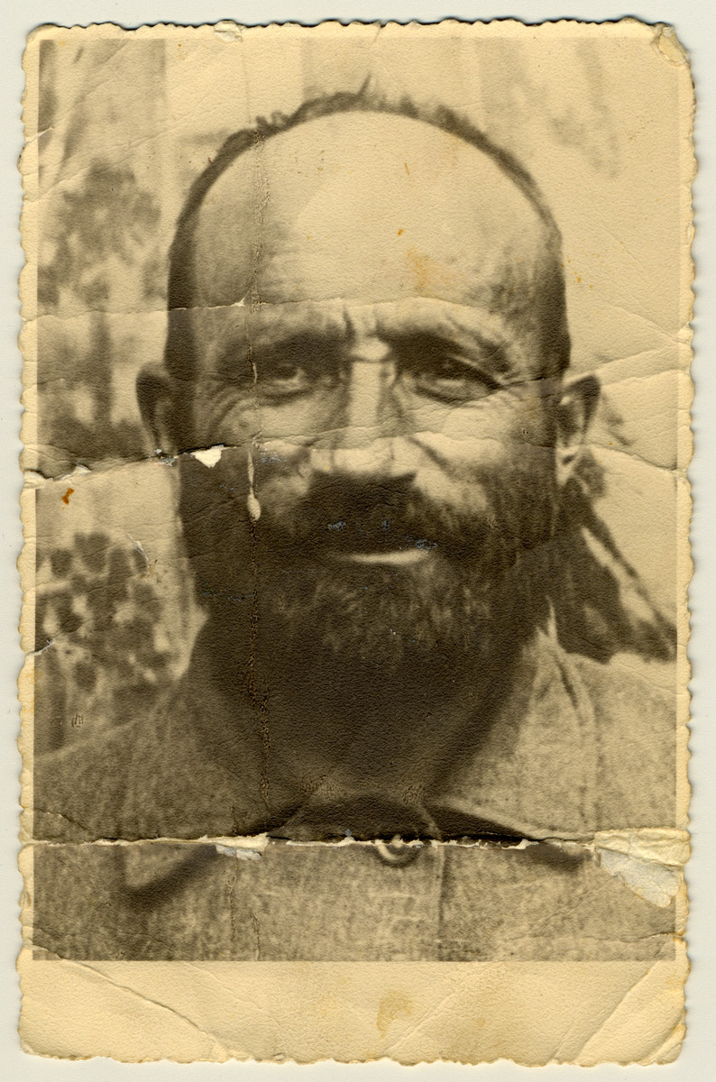 Portrait of Zalman Feigen, a dairy farmer, who perished during the Holocaust.