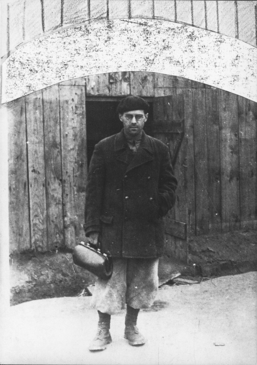 Dr. Feher in Sarospatak just prior to his service in Hungarian-Jewish Labor Company 108/57.