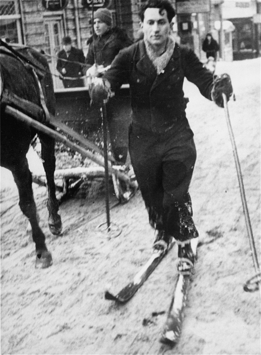 Marian Ament goes skiing at a resort in Zakopane, Poland.