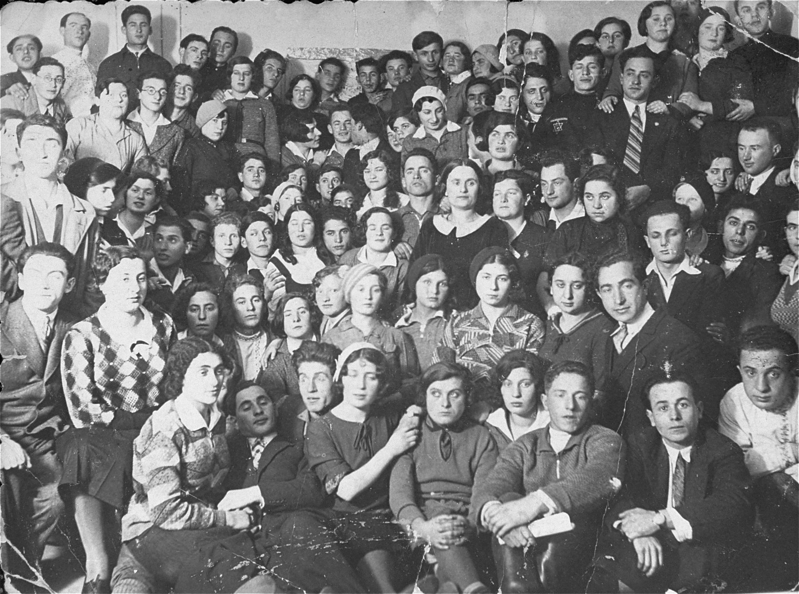 A Zionist group in the Polish community of Swieciany in 1933.