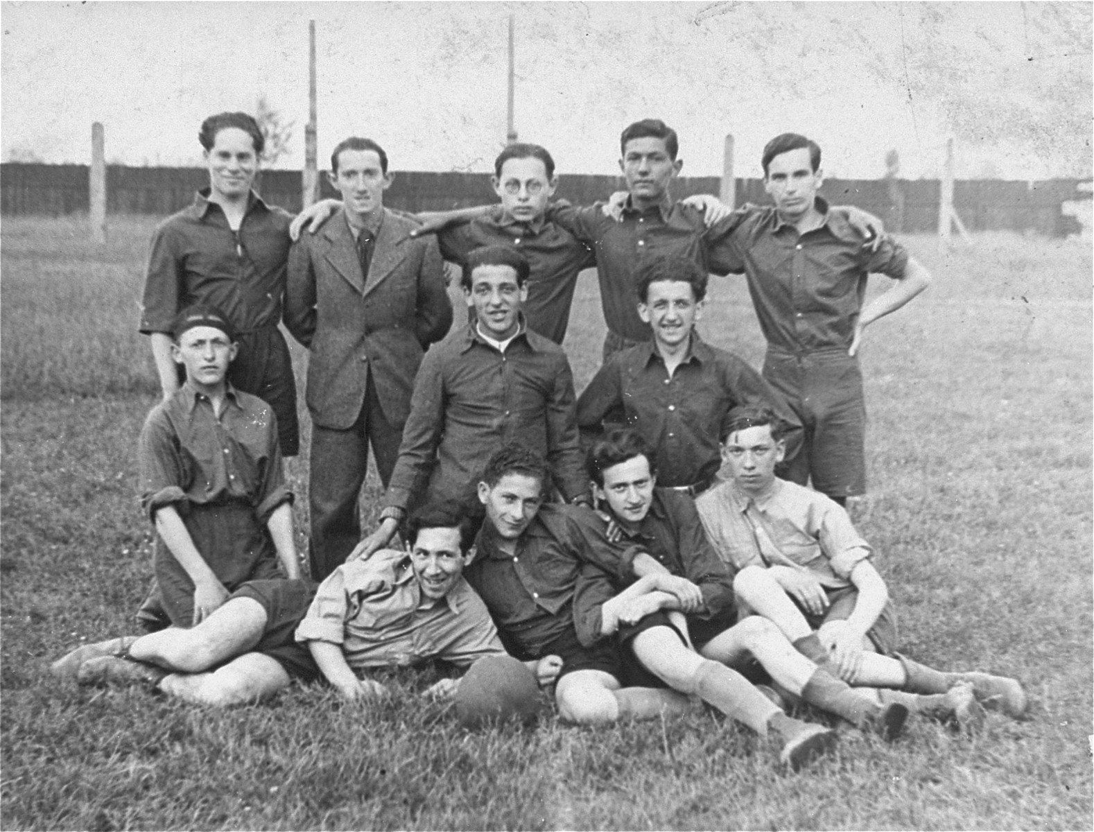 This image is of a Hanoar Hazioni soccer team in the Polish town of Stryj. They are all either 15 or 16 years old. Only two, Max Kaiser and Isaac Dickmann remain alive.