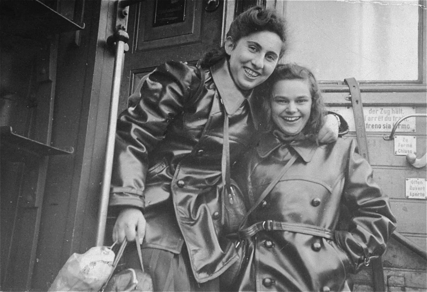 Tamar Katz Zakin (left), one of 120 children sent to Israel when the Nazis occupied Klaipeda, Lithuania.  She is the sister of Nathan Katz and died in 1988.