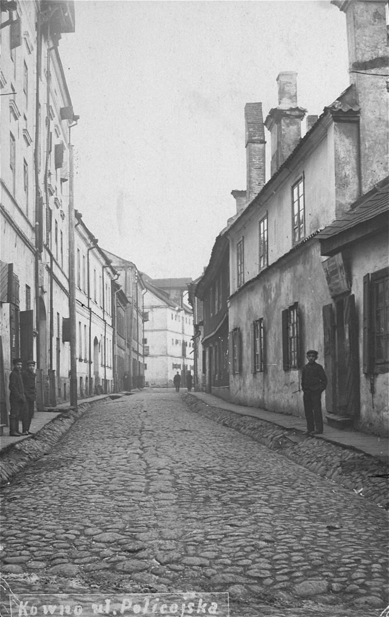 View of Policejska street in Kovno.
