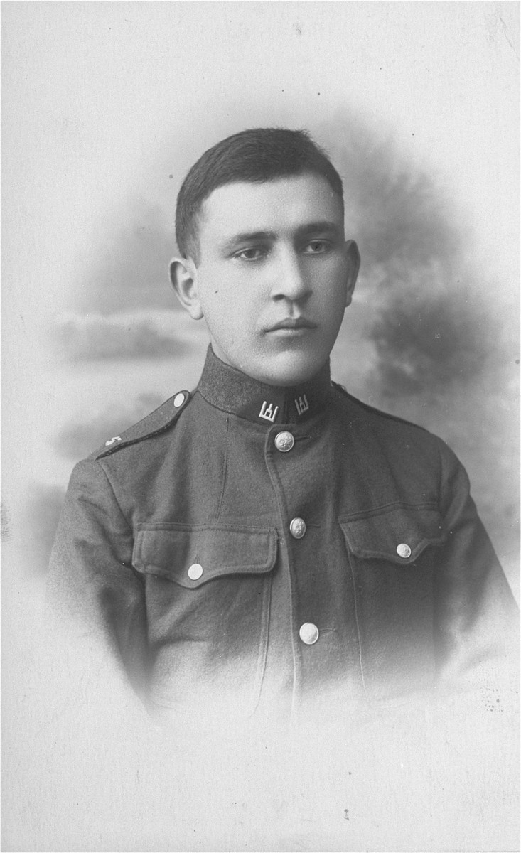 Portrait of a Lithuanian Jew, Joseph Gar, as a soldier in the army.