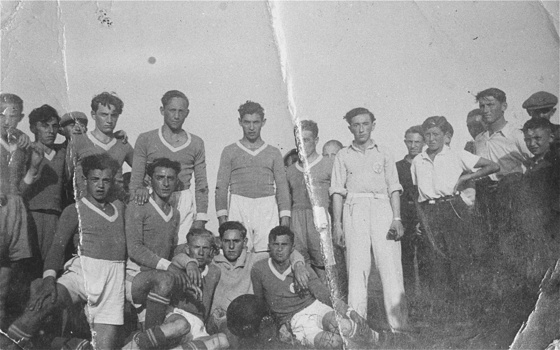 Members of a Jewish soccer team in Gargzdai, Lithuania.