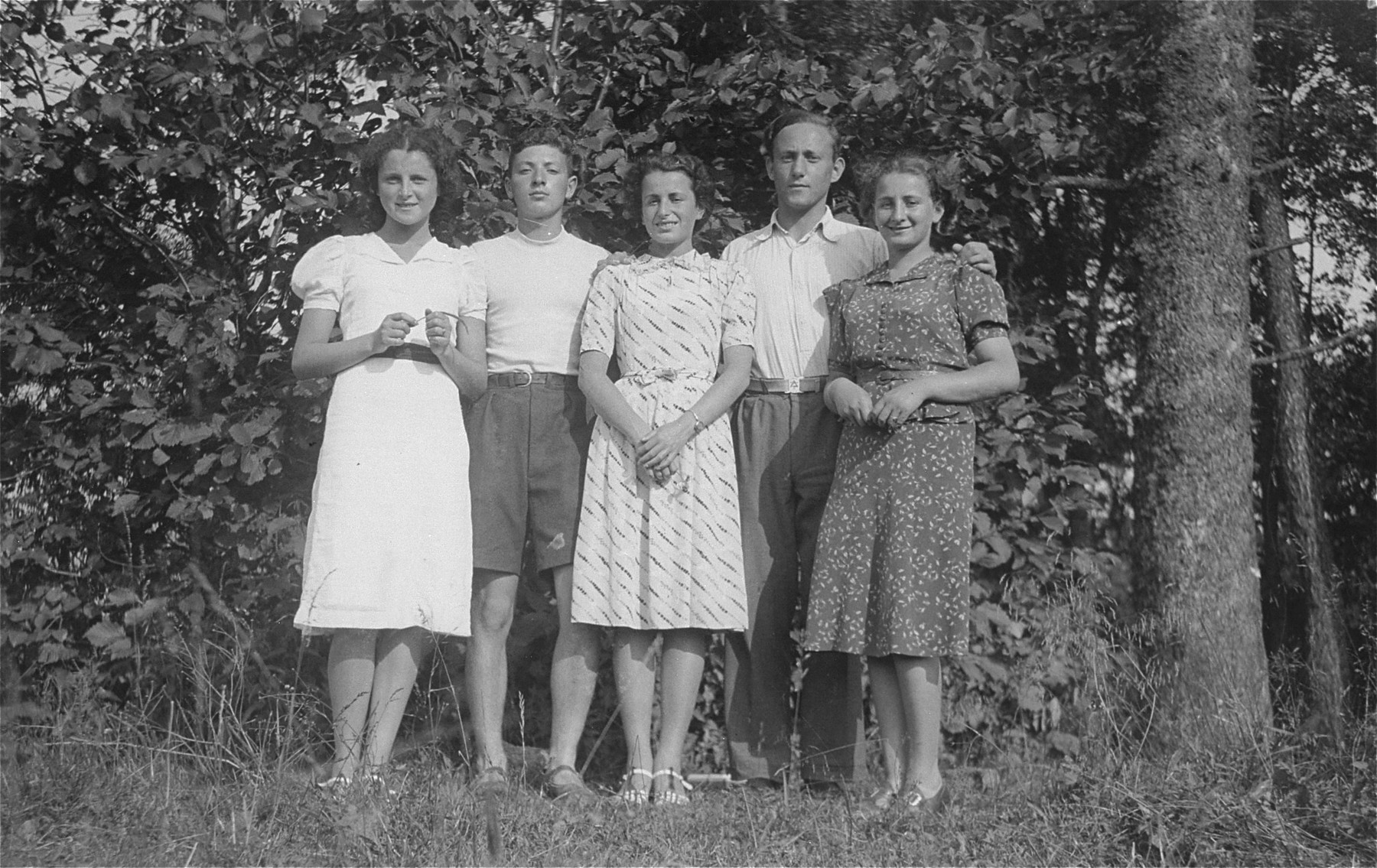 A group of Jewish youth on an outing in Gargzdai, Lithuania.  Only two survived the war.