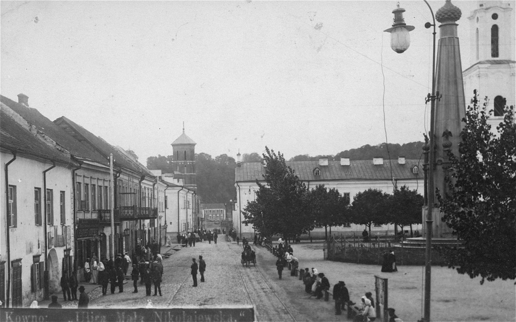 View of a street scene in Kovno.