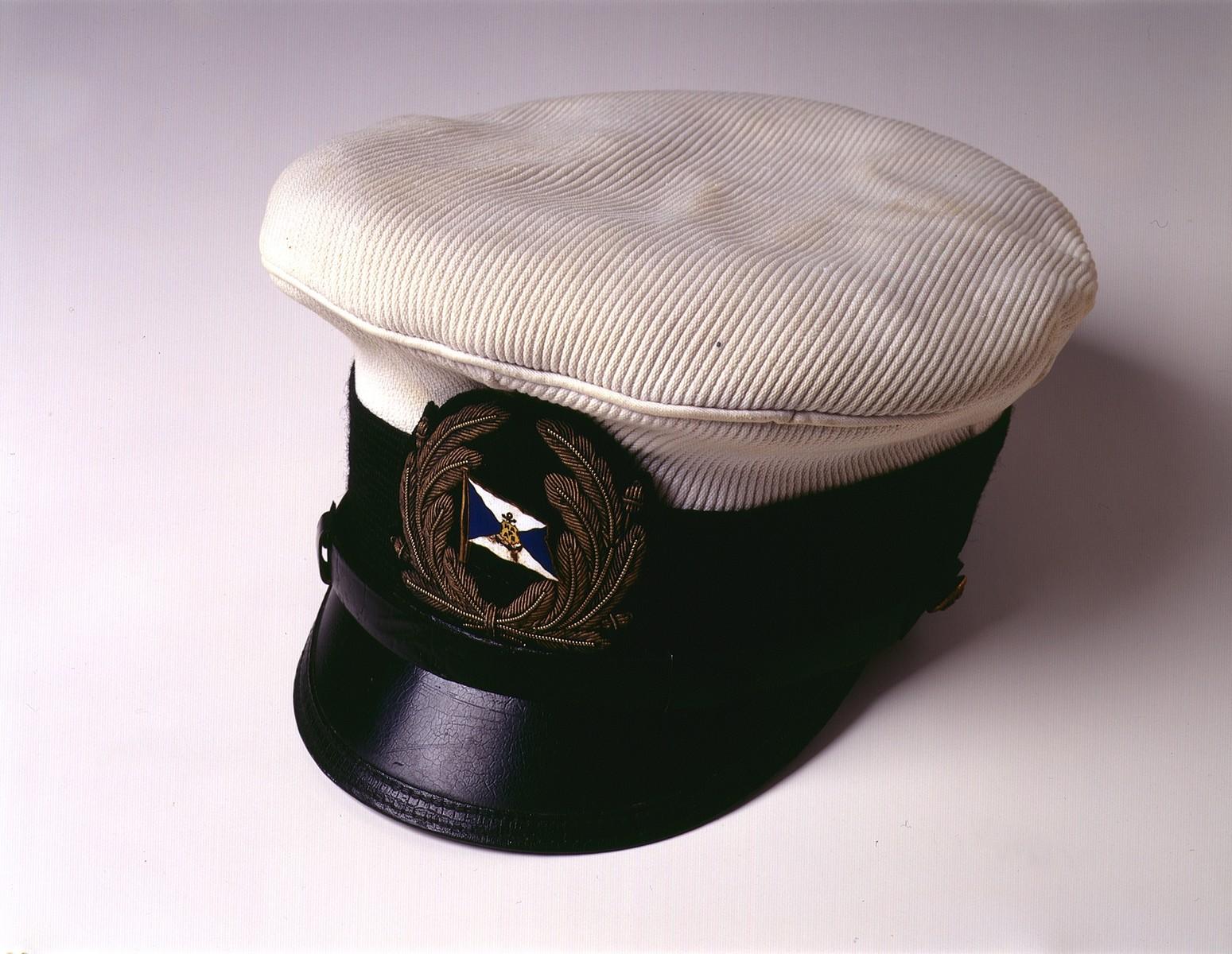 Cap worn by Gustav Schroeder, captain of the MS St. Louis.