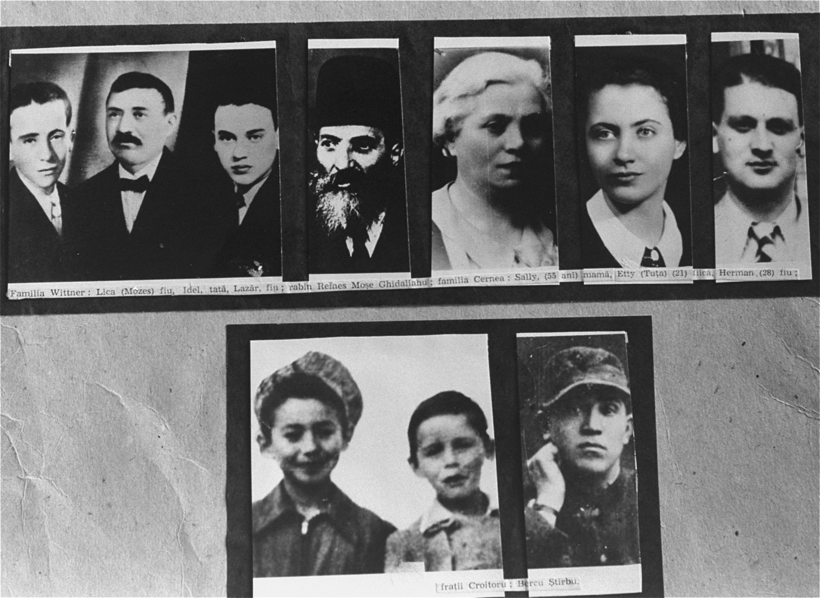 A series of photographs of Jews killed during the Iasi pogrom.