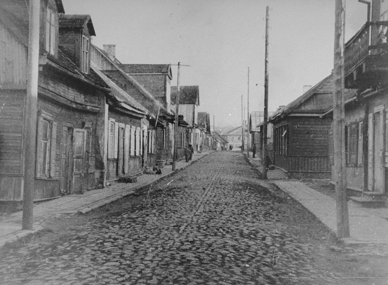 View of Krisciukaicio Street in the Kovno ghetto.