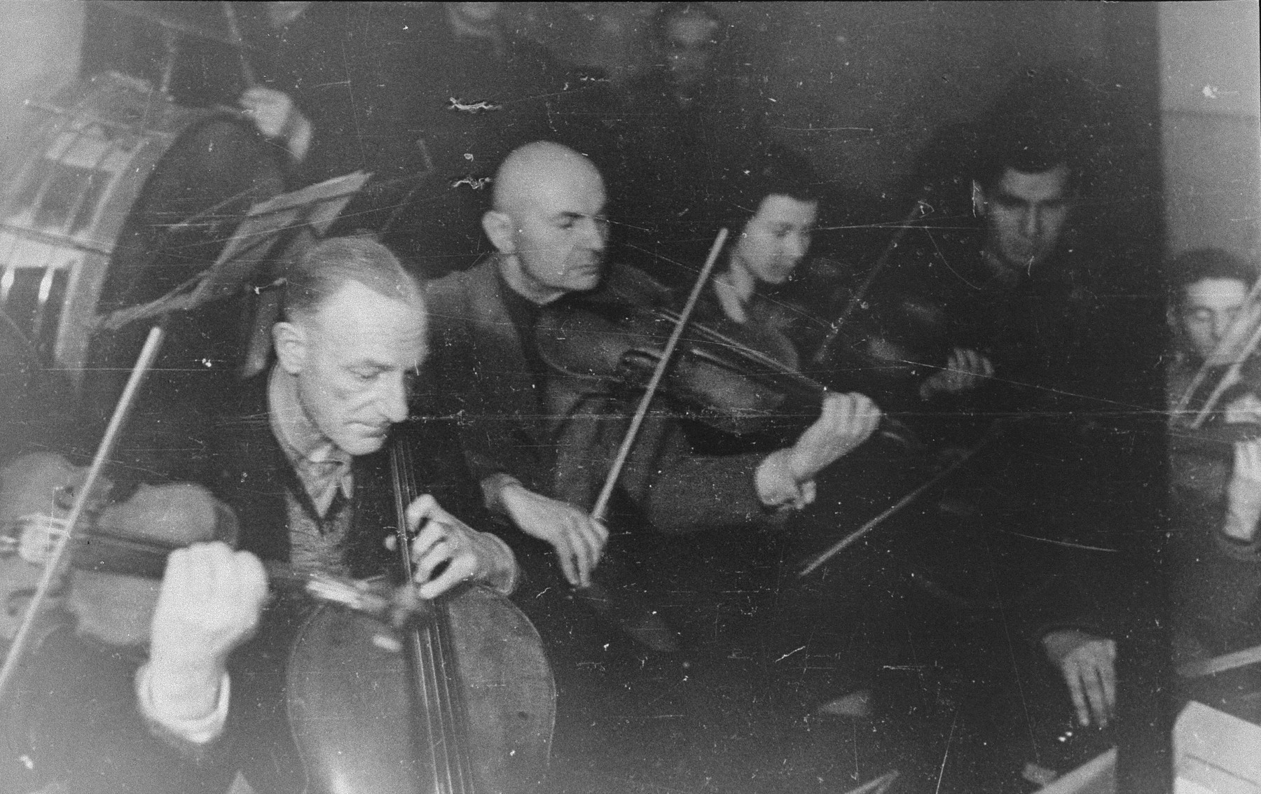 Performance of the Kovno ghetto orchestra.